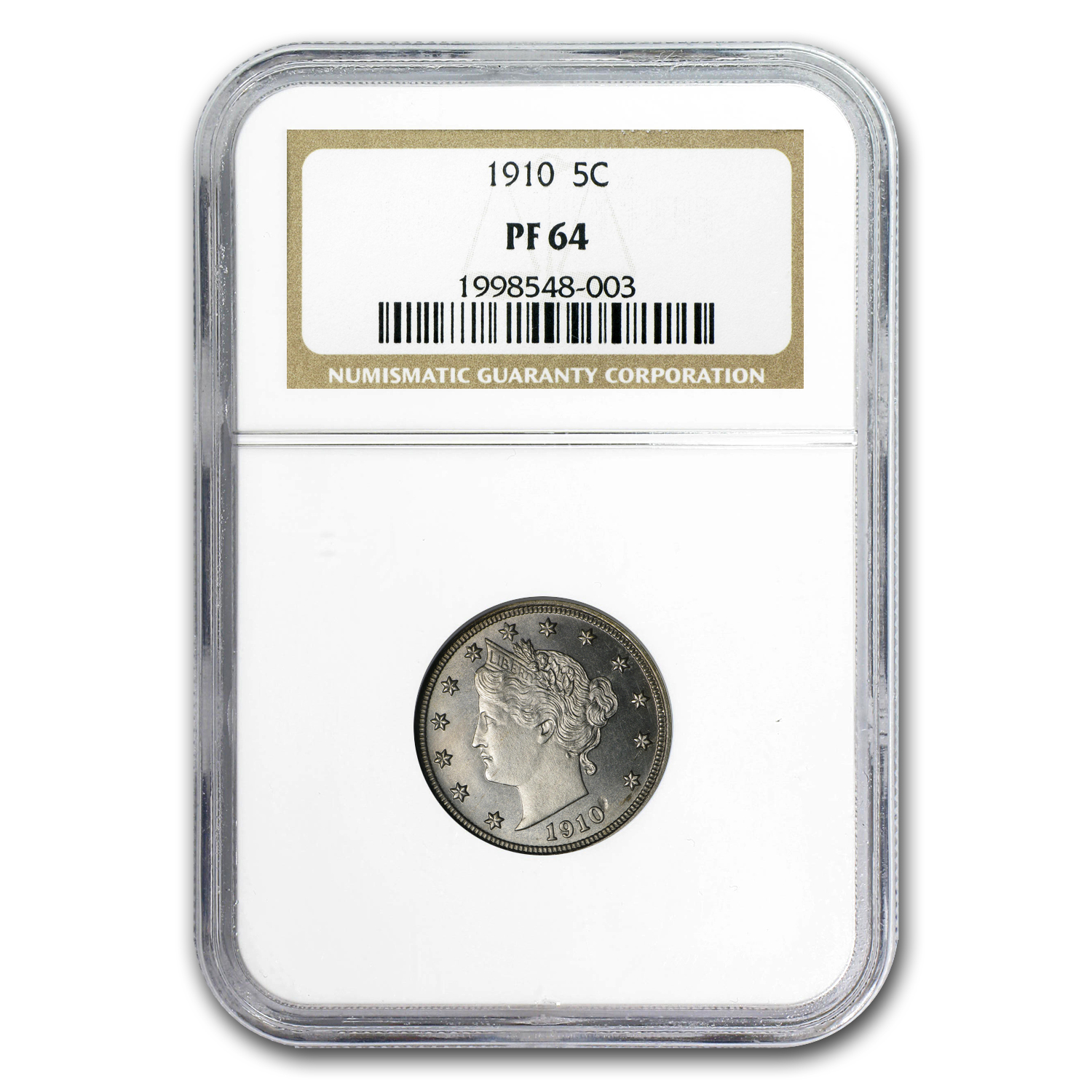 1910 Liberty Head Nickel PF-64 NGC