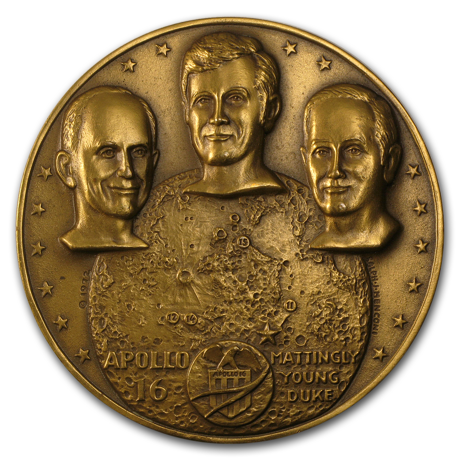 "Bronze Medal Apollo 16 (2 1/2"" Dia.)"