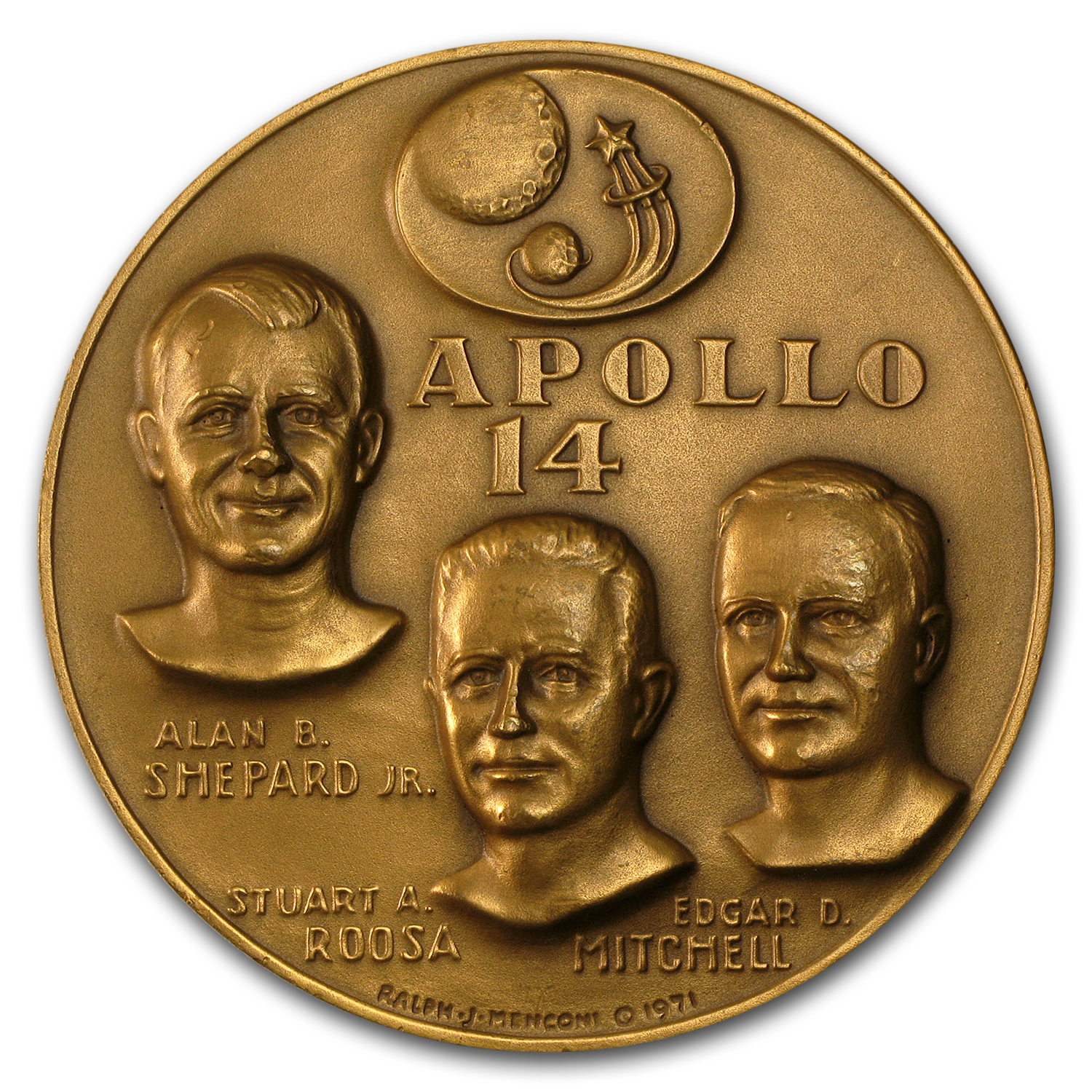 "Bronze Medal Apollo 14 (2 1/2"" Dia.)"