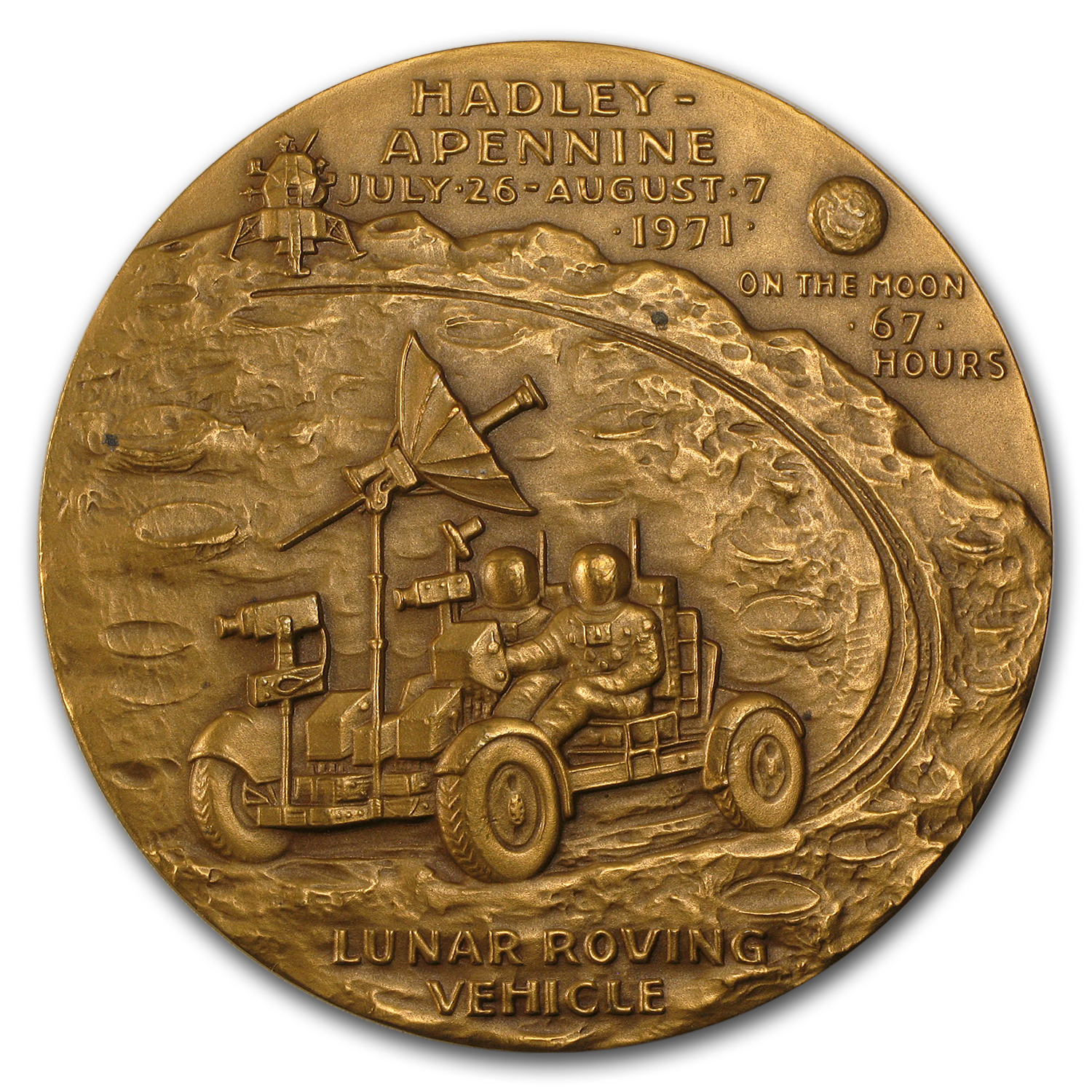 "Bronze Medal Apollo 15 (2 1/2"" Dia.)"