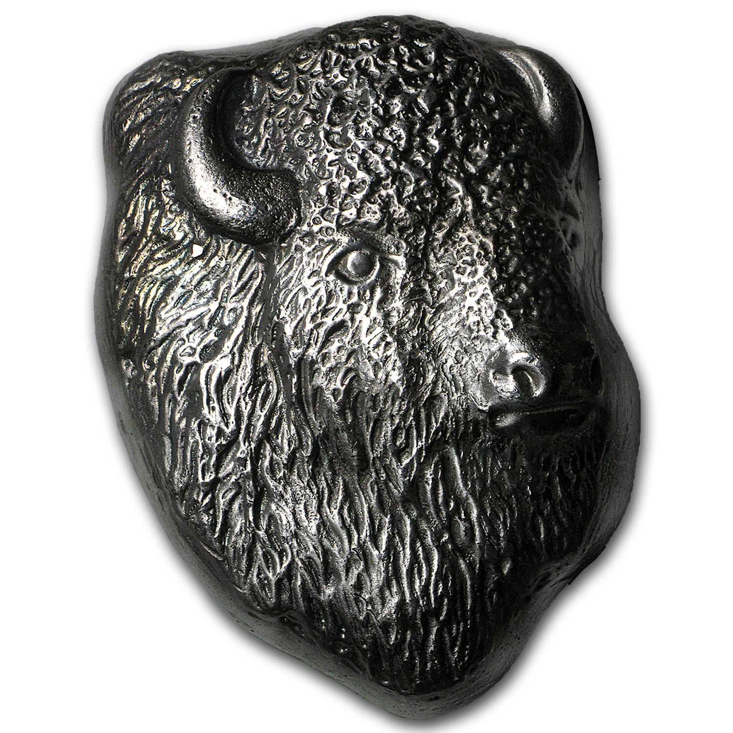 10 oz Silver Bar - Bison Head