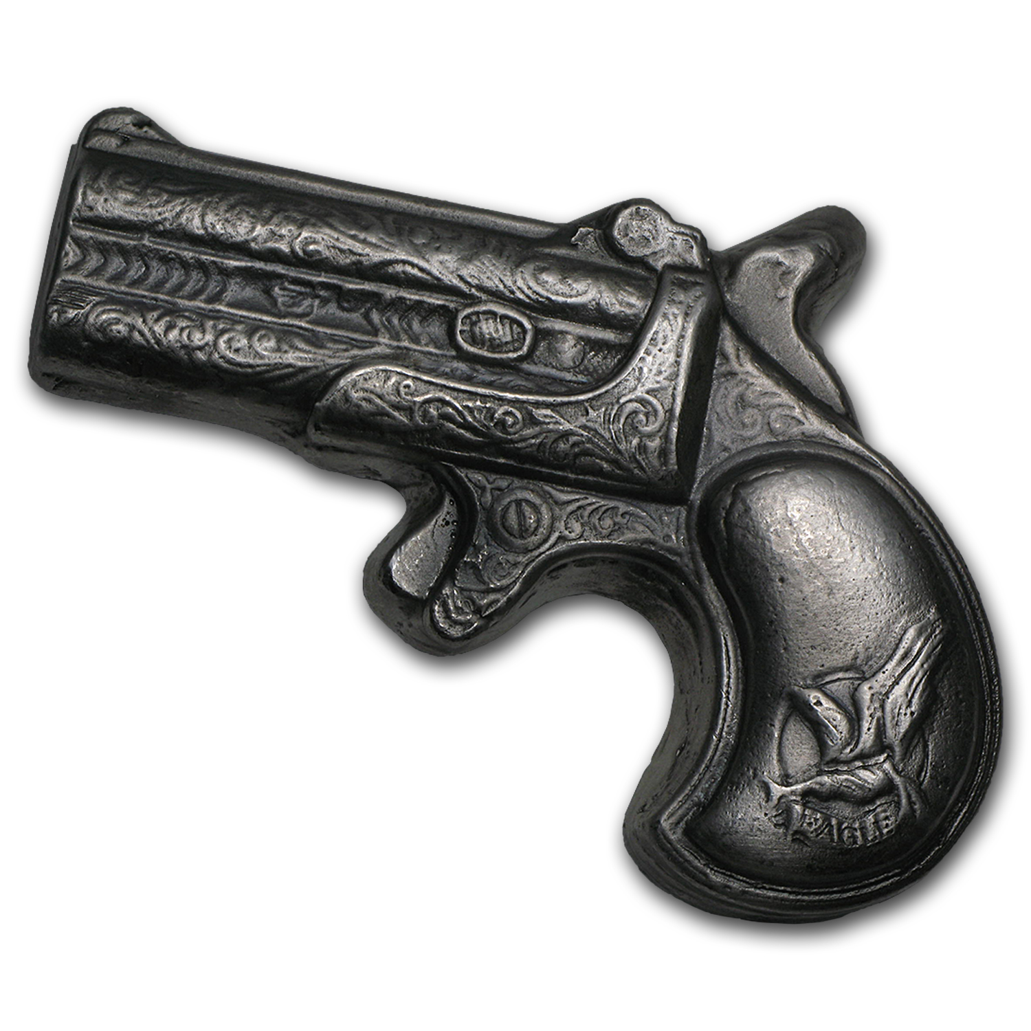 7 oz Silver Bar - Derringer Pistol