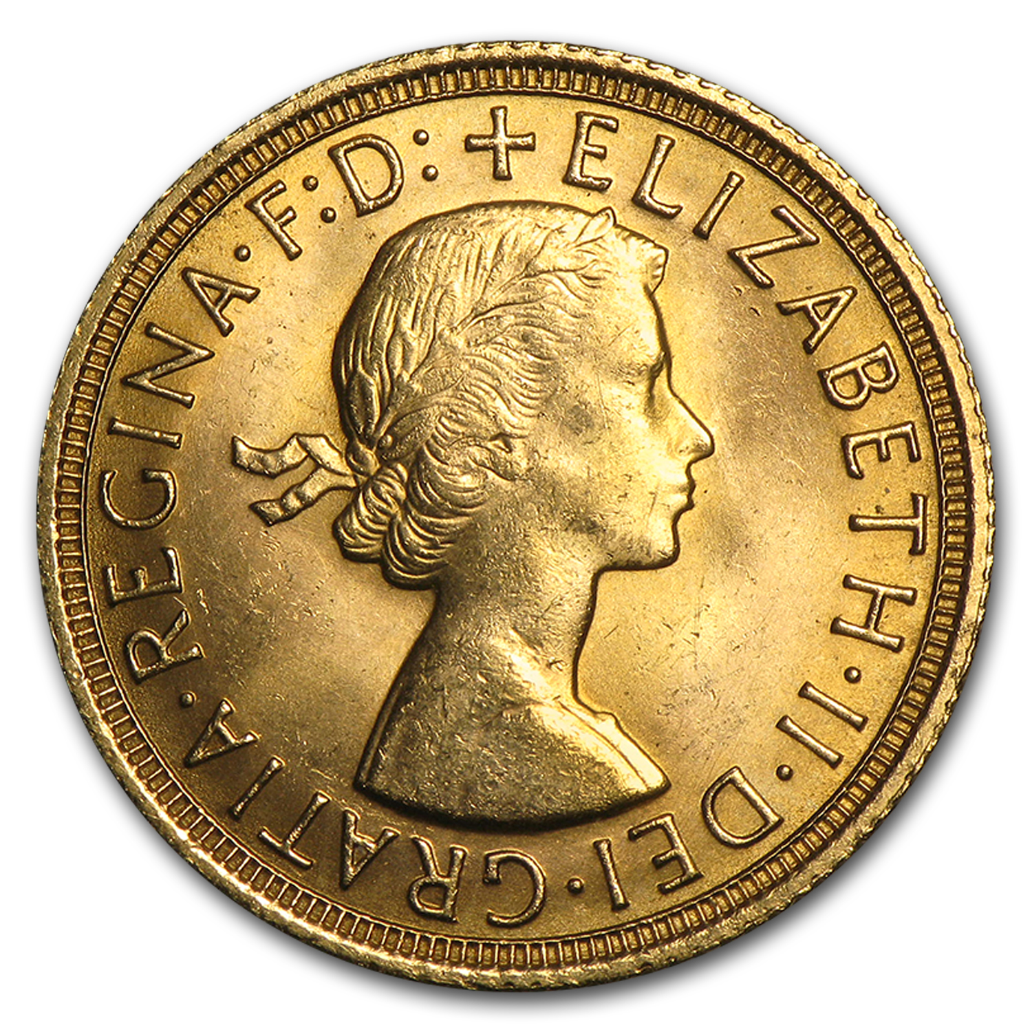 1957-1968 Great Britain Gold Sovereign Elizabeth II AU