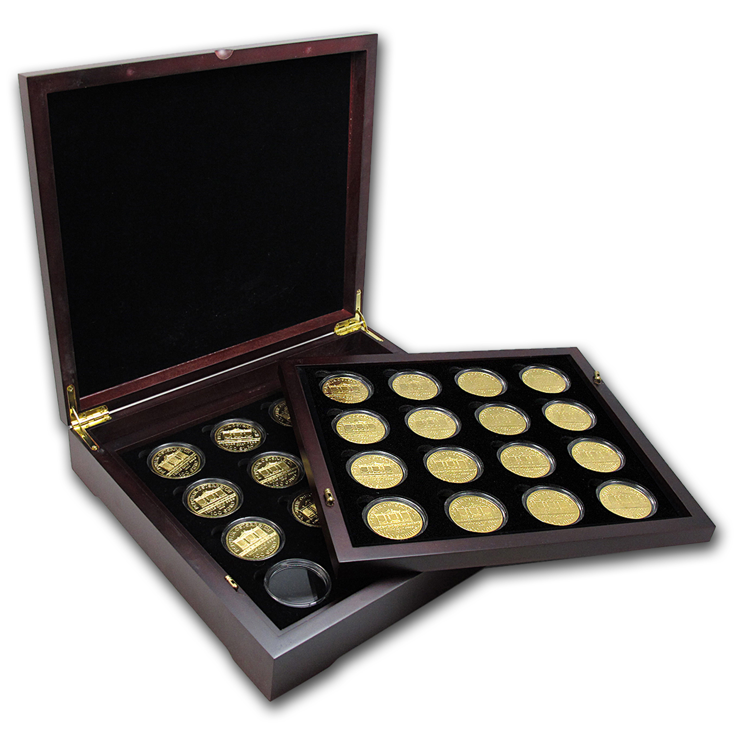 1989-2015 Austria 27-Coin 1 oz Gold Philharmonic Set BU
