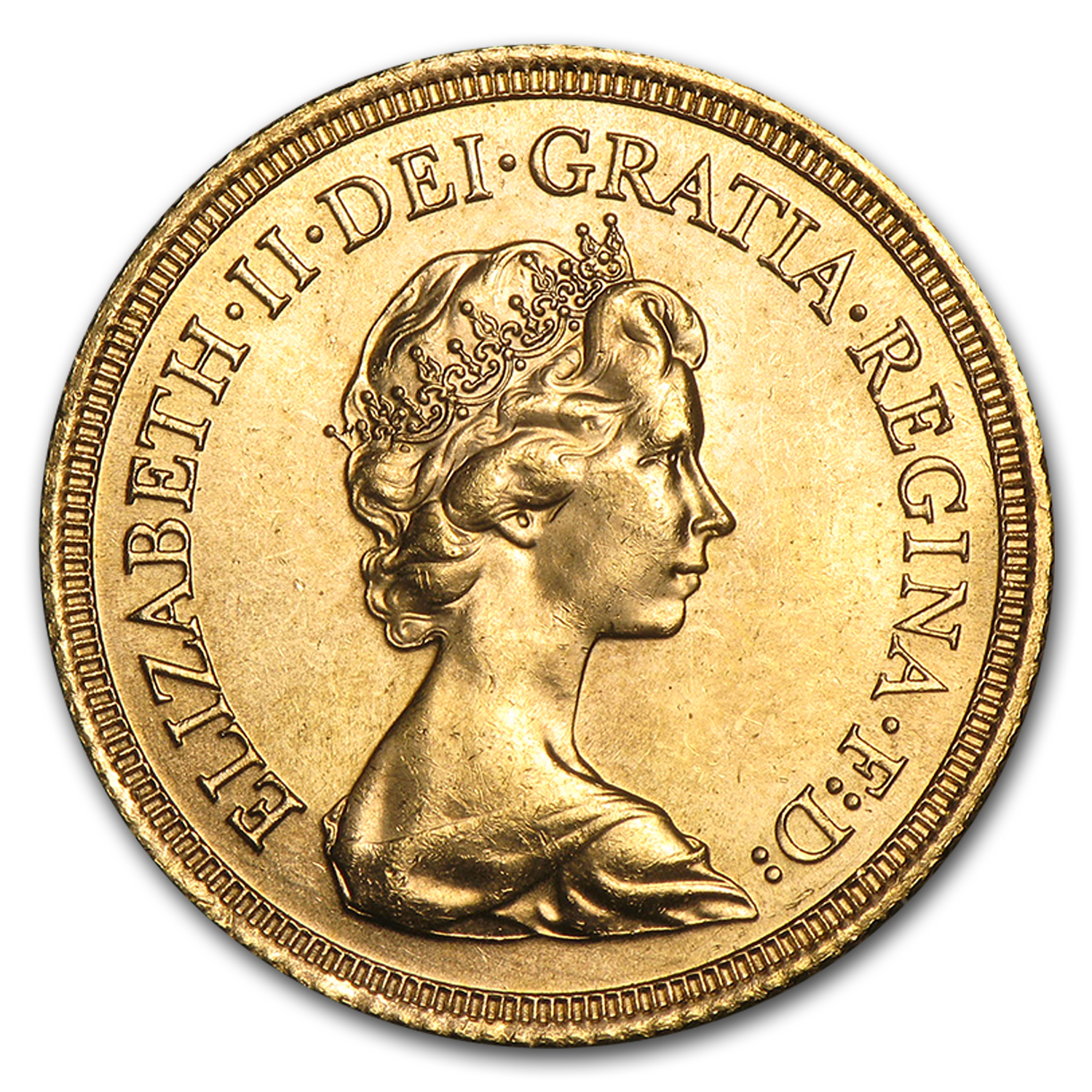 1974-1982 Great Britain Gold Sovereign Elizabeth II BU