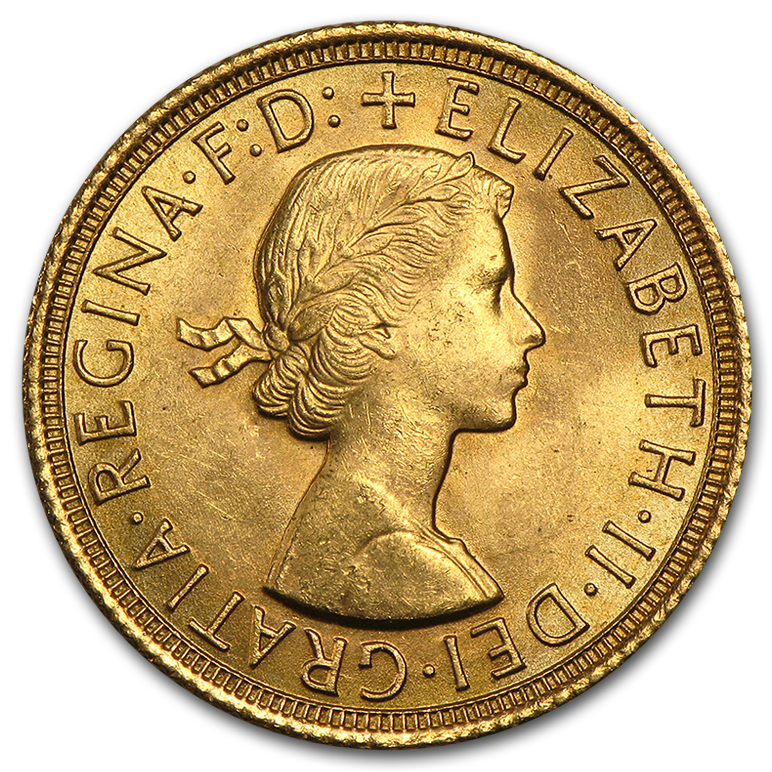 1957-1968 Great Britain Gold Sovereign Elizabeth II BU