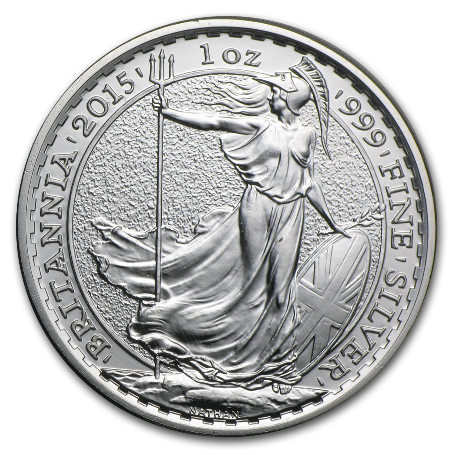 2015 Great Britain 1 oz Silver Britannia (Abrasions)