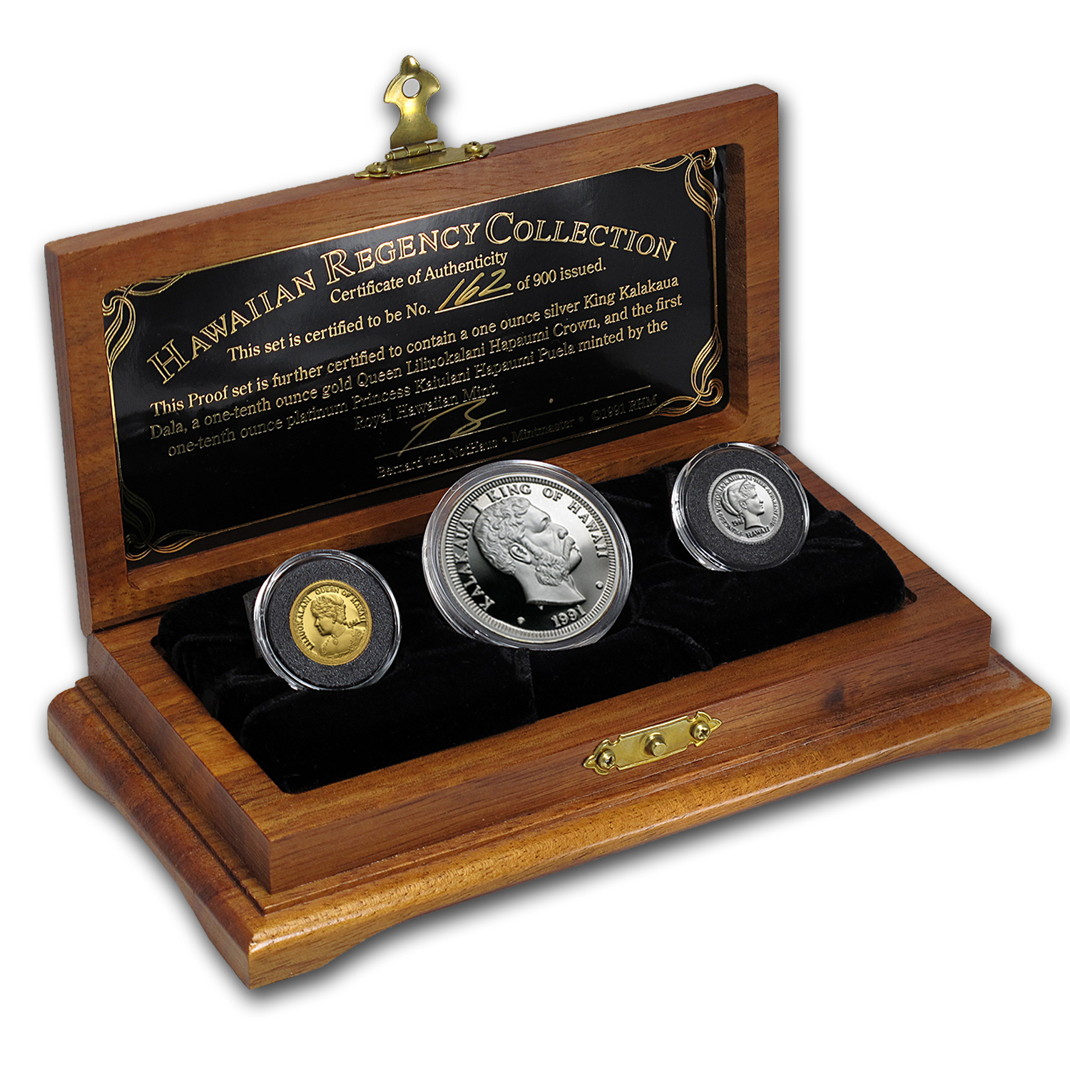 1991 3-Metals Hawaiian Regency Proof Set (w/Box & COA)