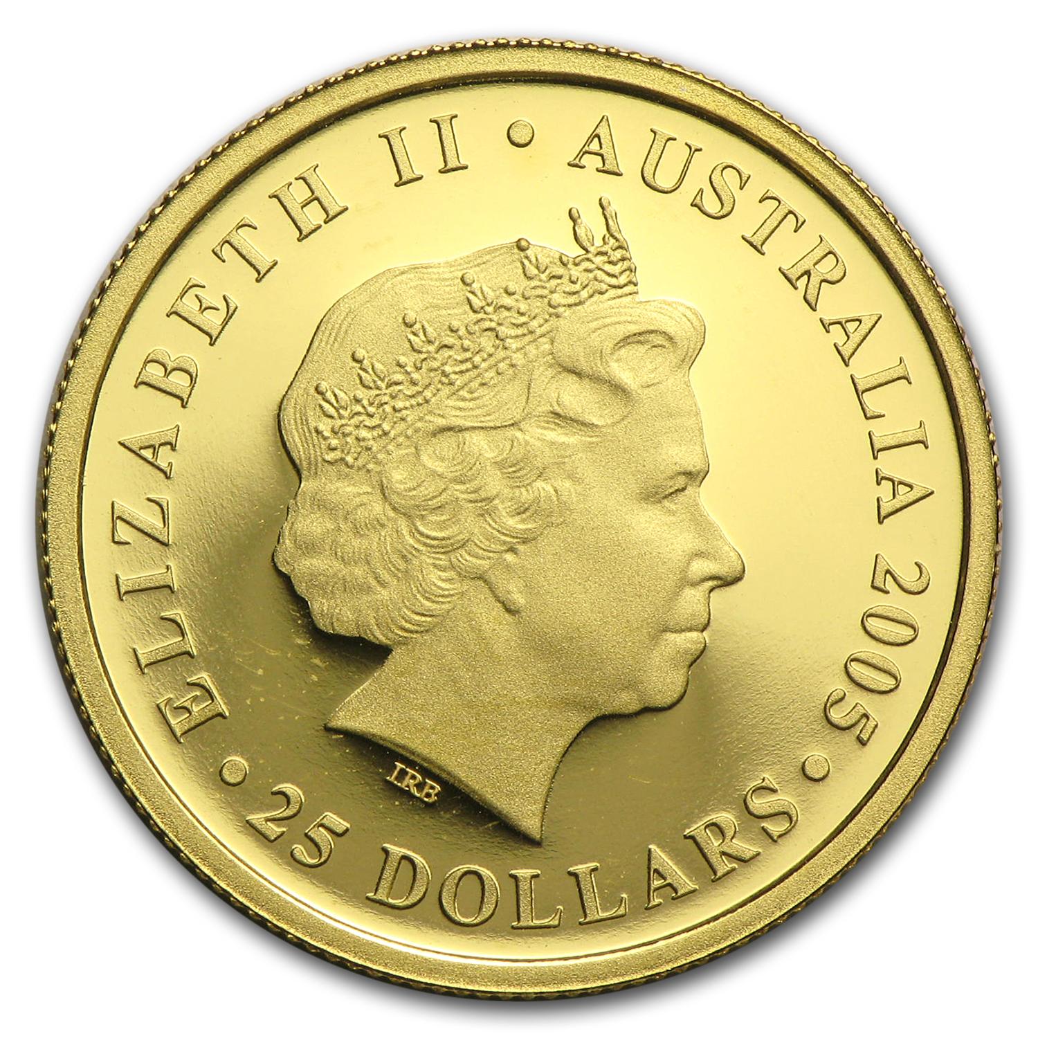 2005 Australia Gold $25 Proof Sovereign Elizabeth II