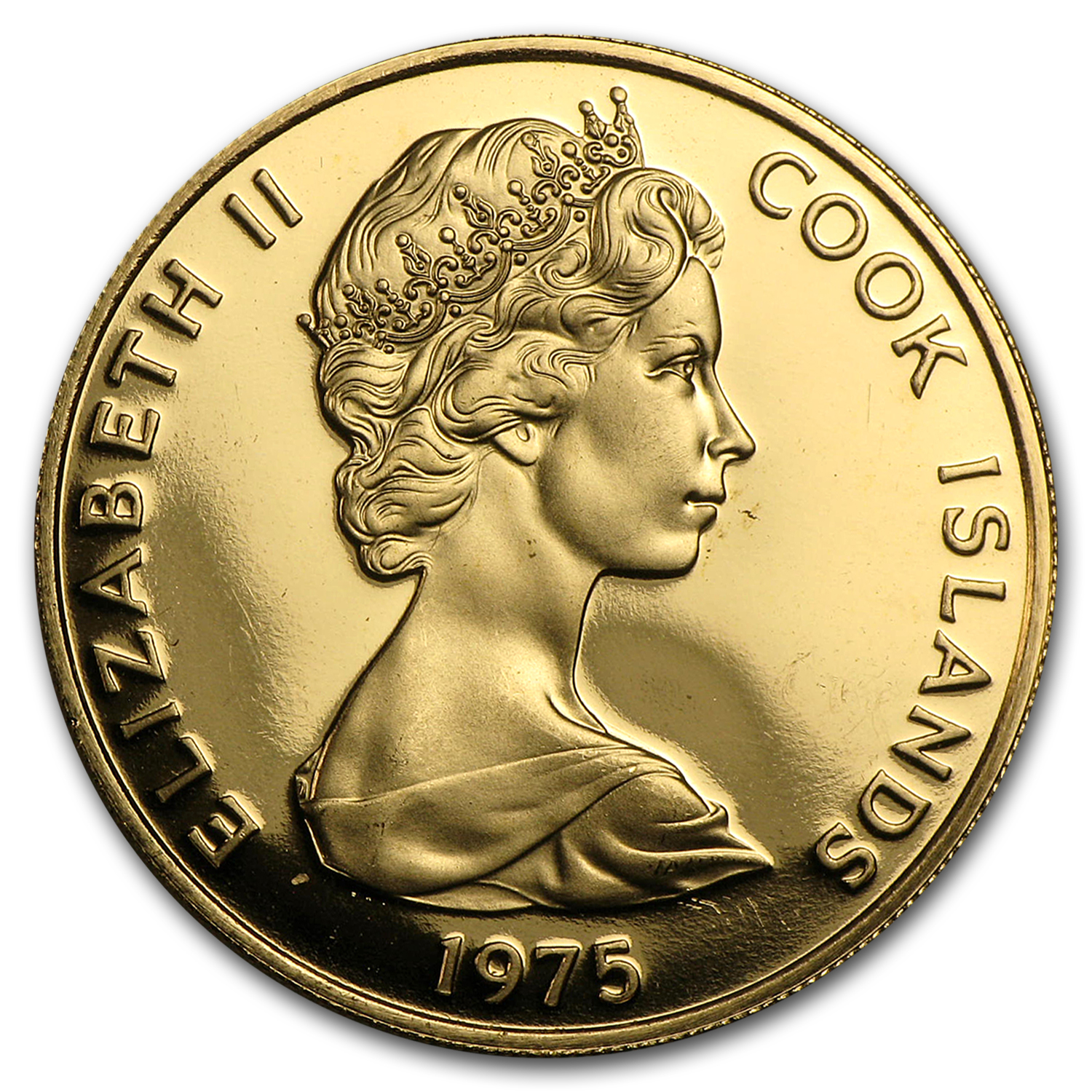 1975 Cook Islands Gold $100 James Cook Proof