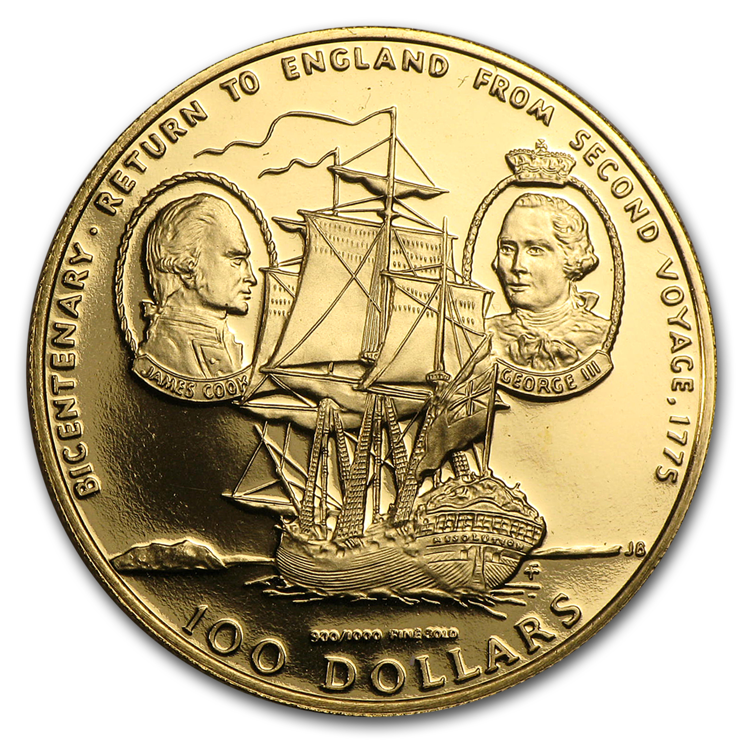 Cook Islands 1975 100 Dollar Gold Proof