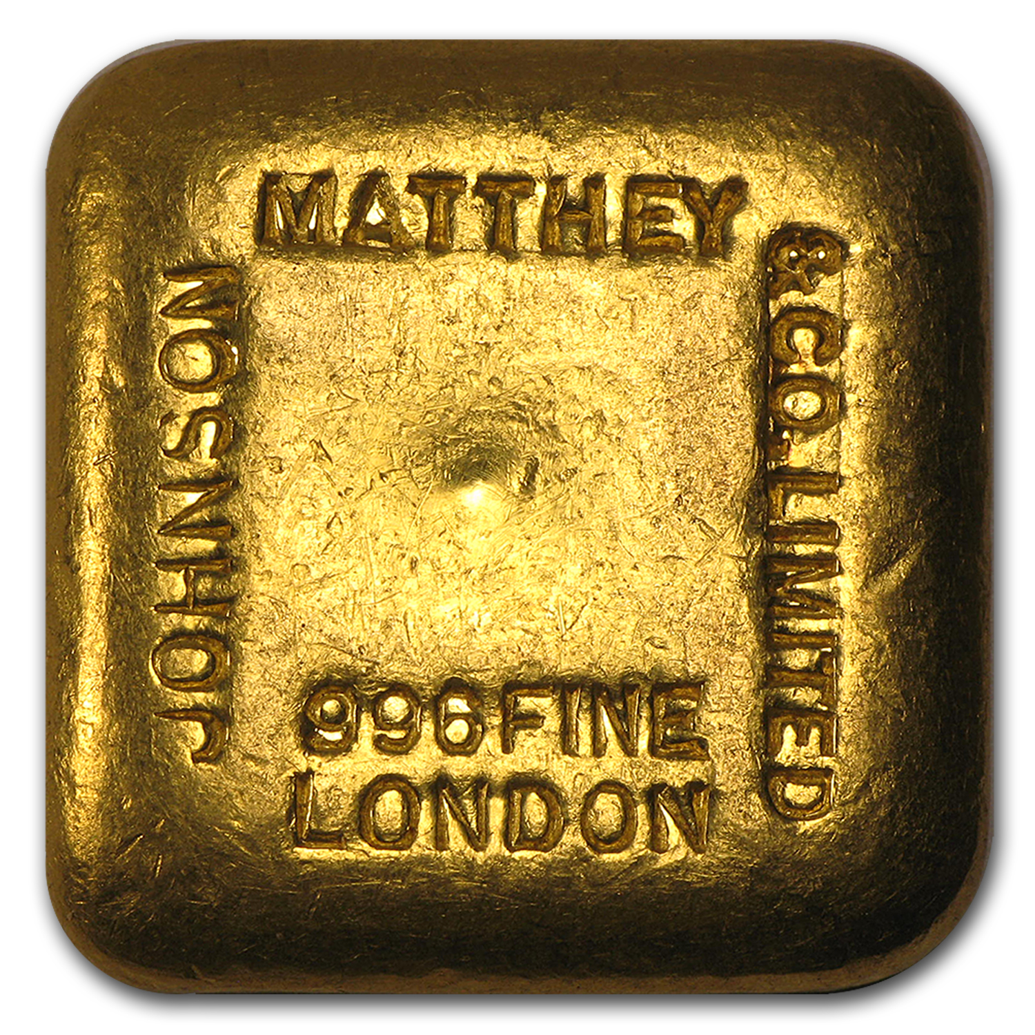 5 Tolas Gold Square - Johnson Matthey-London & Co. (.996 Fine)