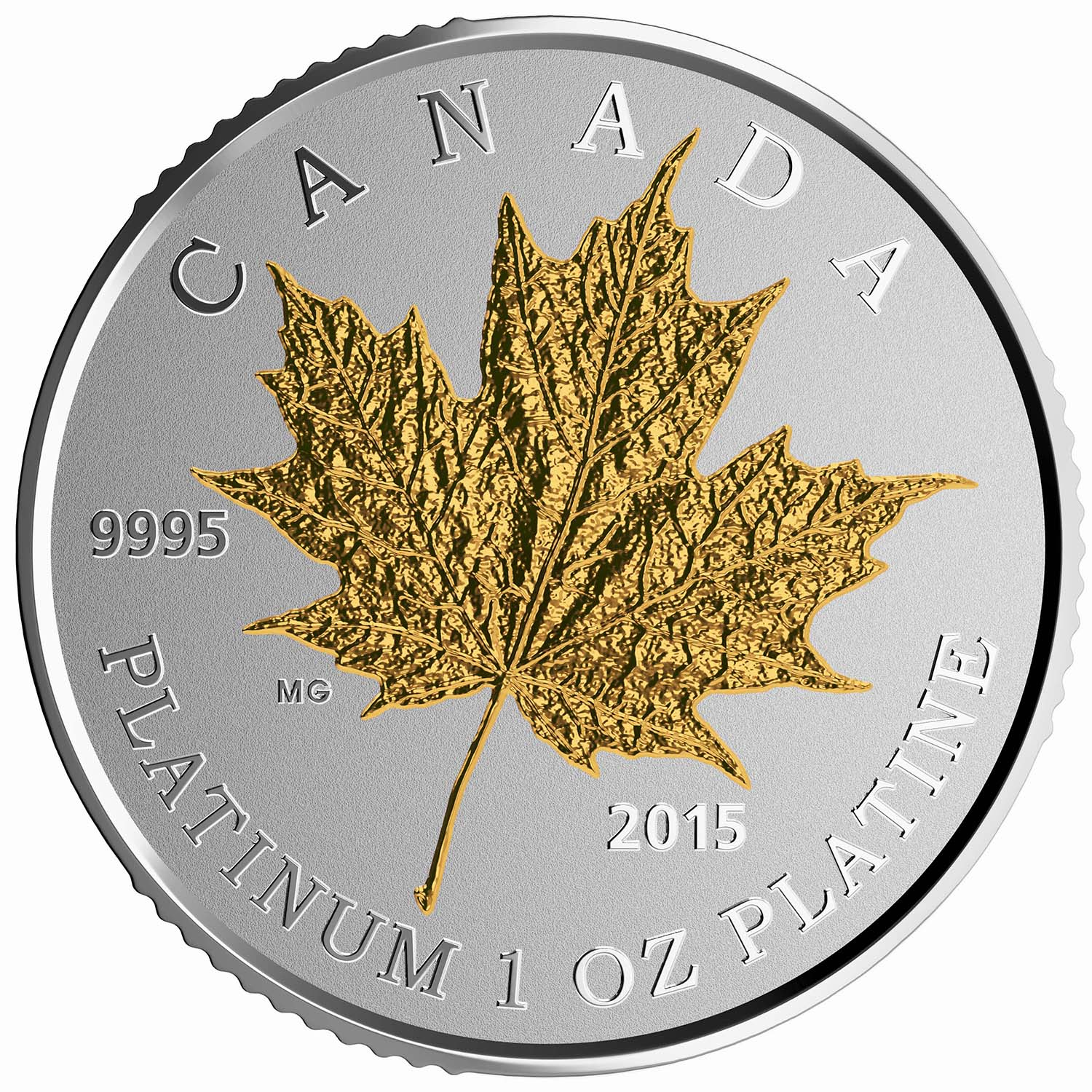 2015 Canada 1 oz Proof Platinum $300 Maple Leaf Forever