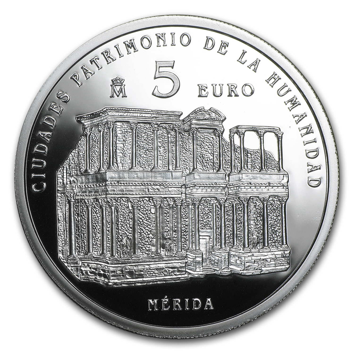 2015 Spain Proof Silver €5 UNESCO Mérida