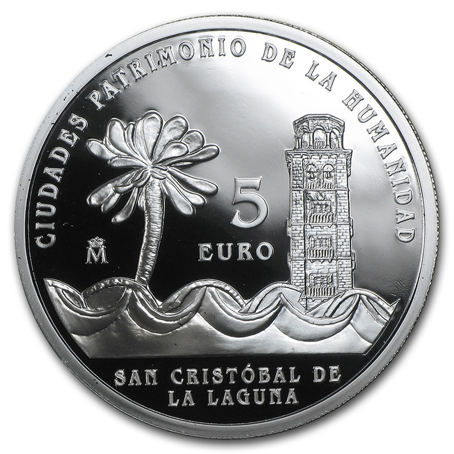 2015 Spain Proof Silver €5 UNESCO San Cristóbal de la Laguna