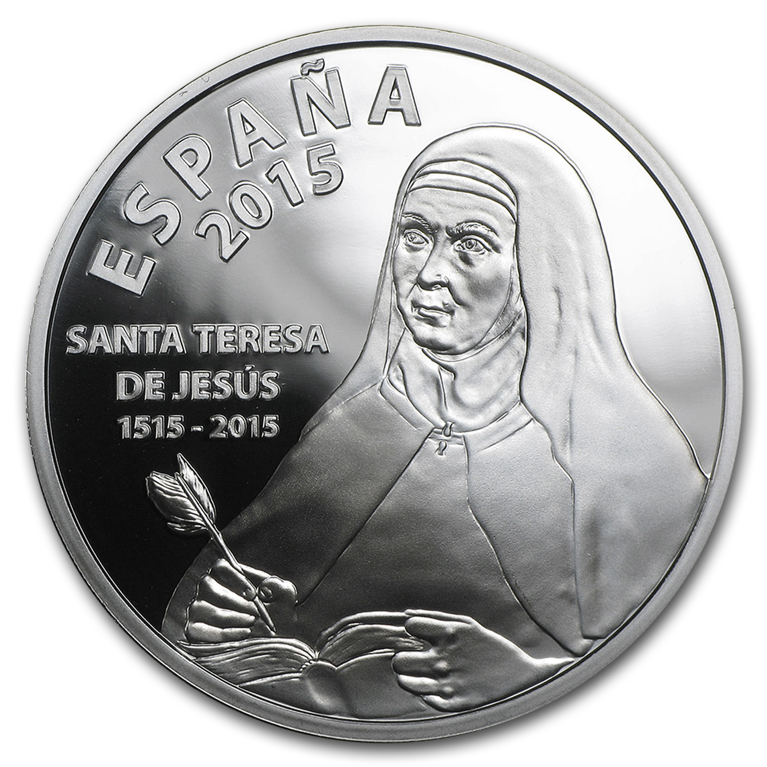 2015 Proof Silver €10 500th Anniversary of Saint Teresa of Jesus
