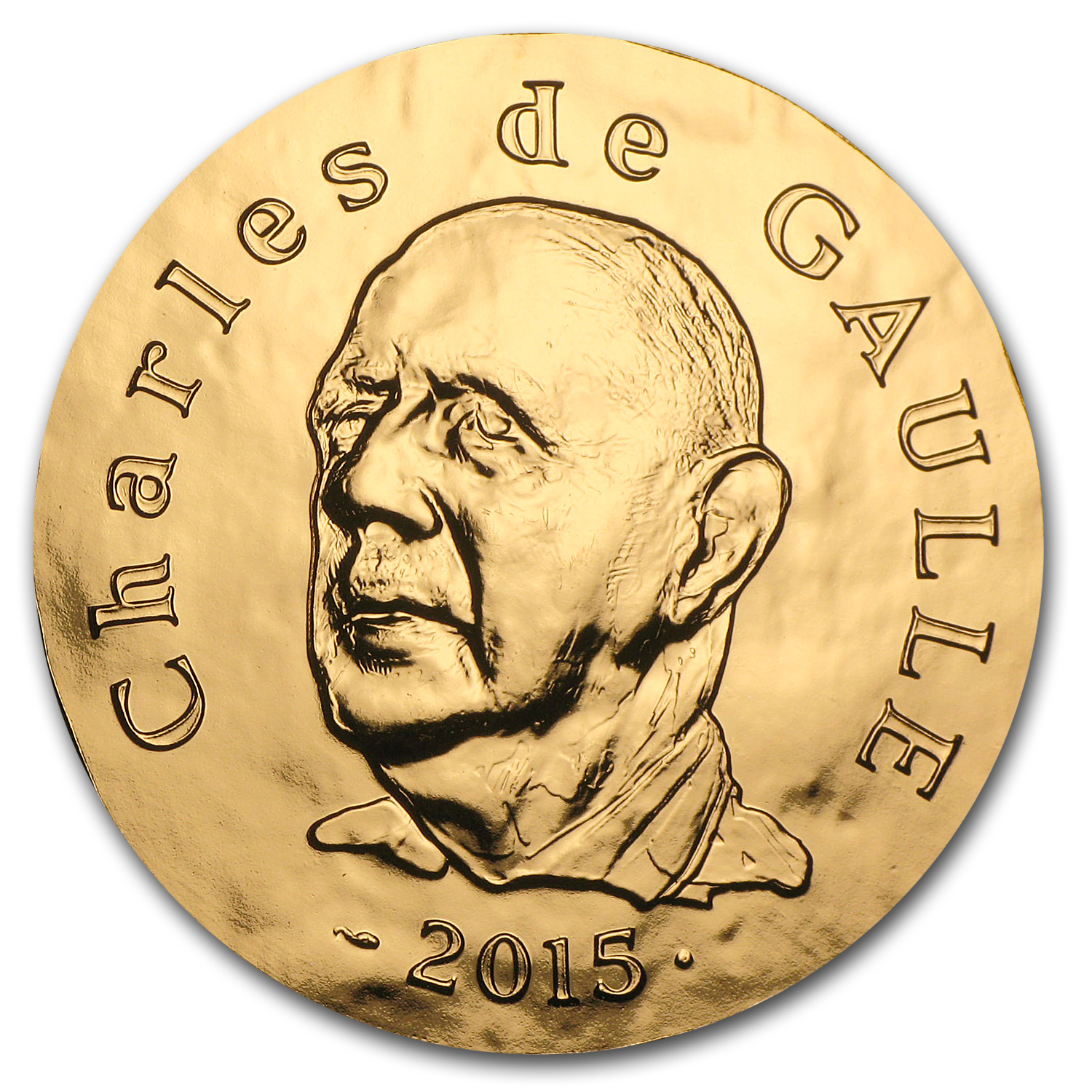 2015 France 1 oz Proof Gold 200 Euro Charles de Gaulle