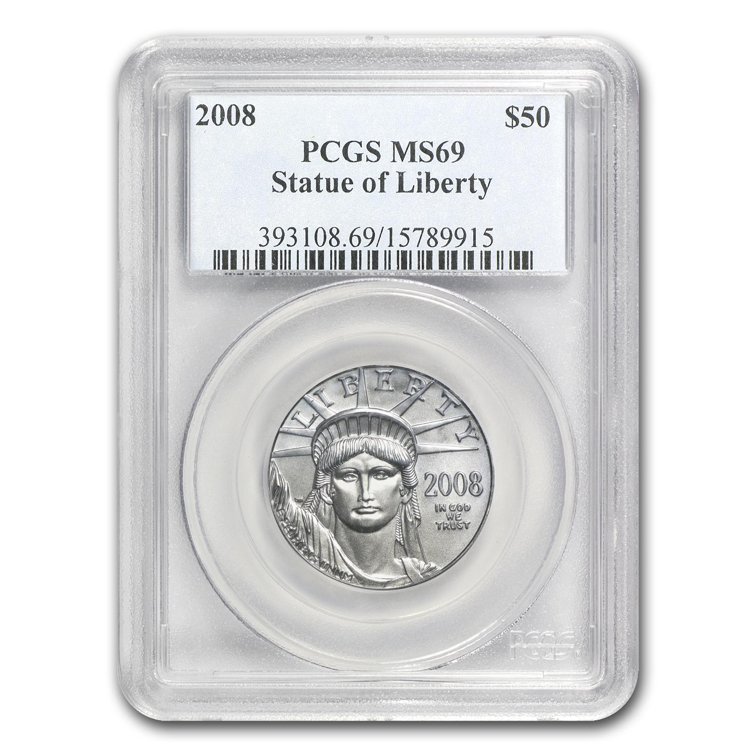 2008 1/2 oz Platinum American Eagle MS-69 PCGS