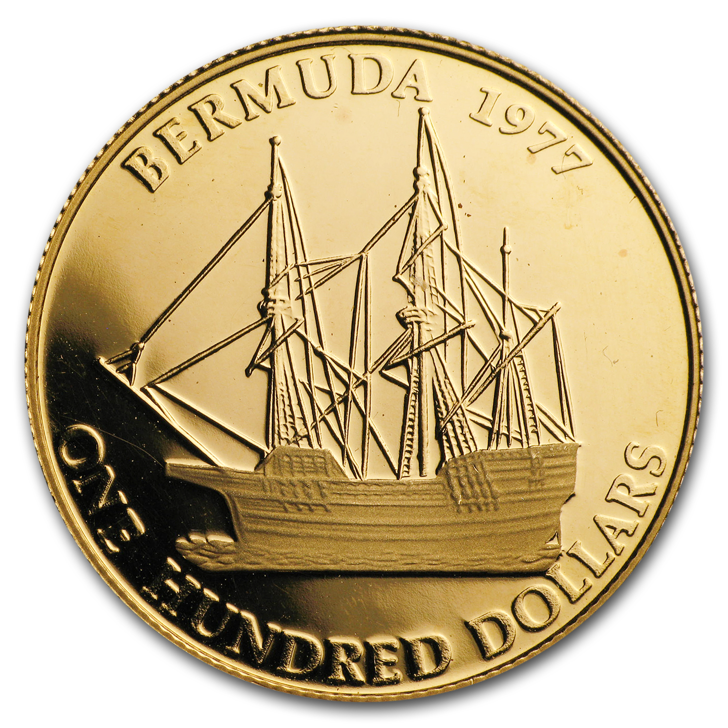 1977 Bermuda Proof Gold $100 Queen's Silver Jubilee