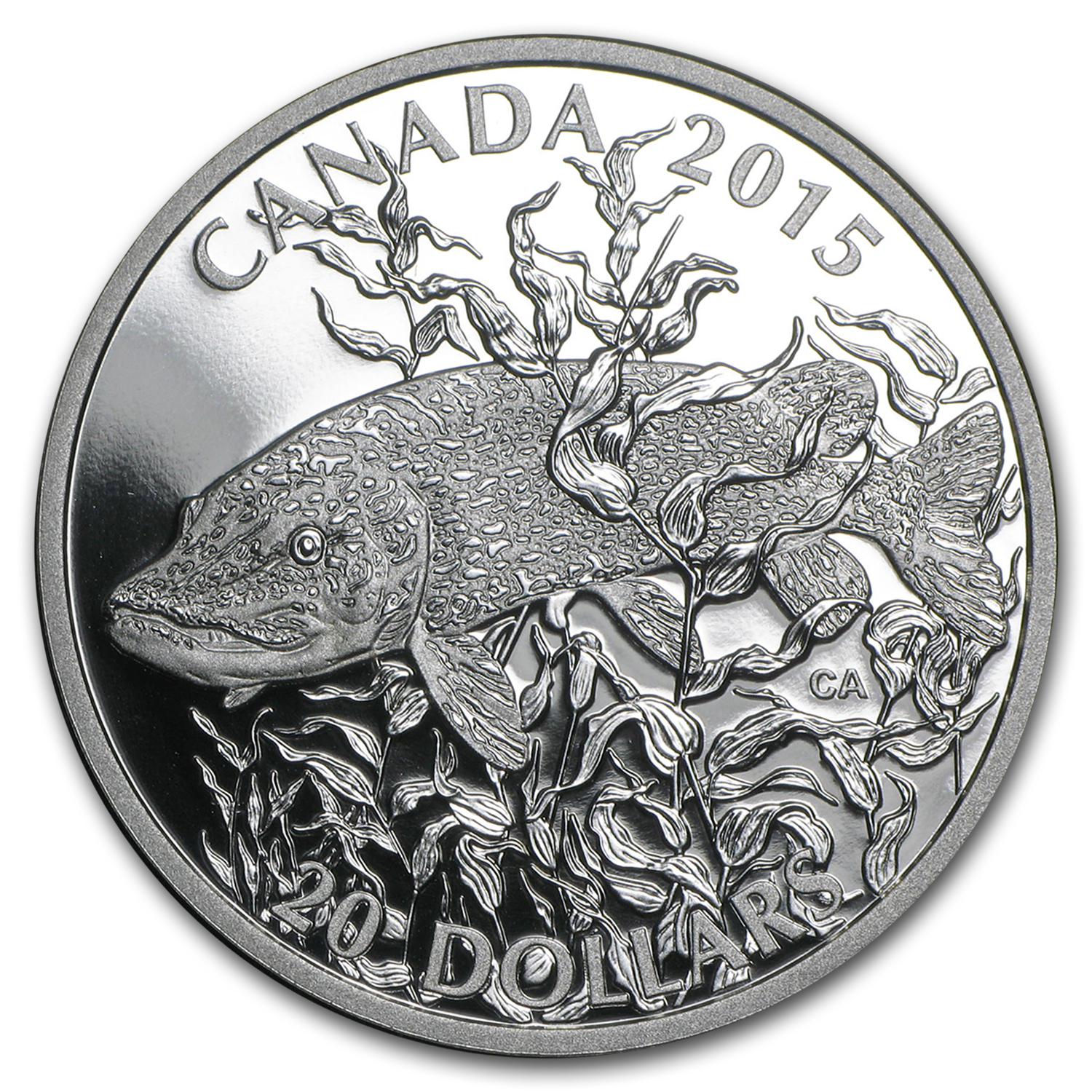 2015 Canada 1 oz Silver North American Sportfish Northern Pike