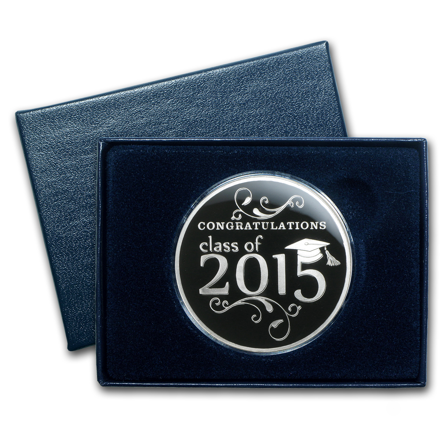 1 oz Silver Round - 2015 Graduation (Enameled, w/Box & Capsule)