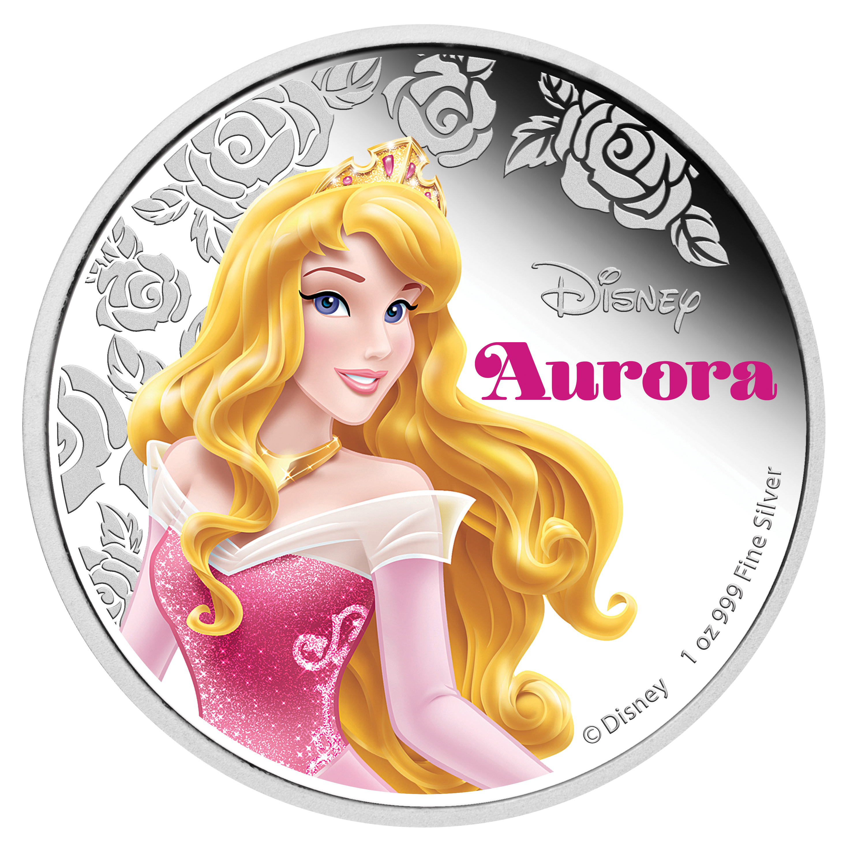 2015 Niue 1 oz Silver $2 Disney Princess Sleeping Beauty Aurora