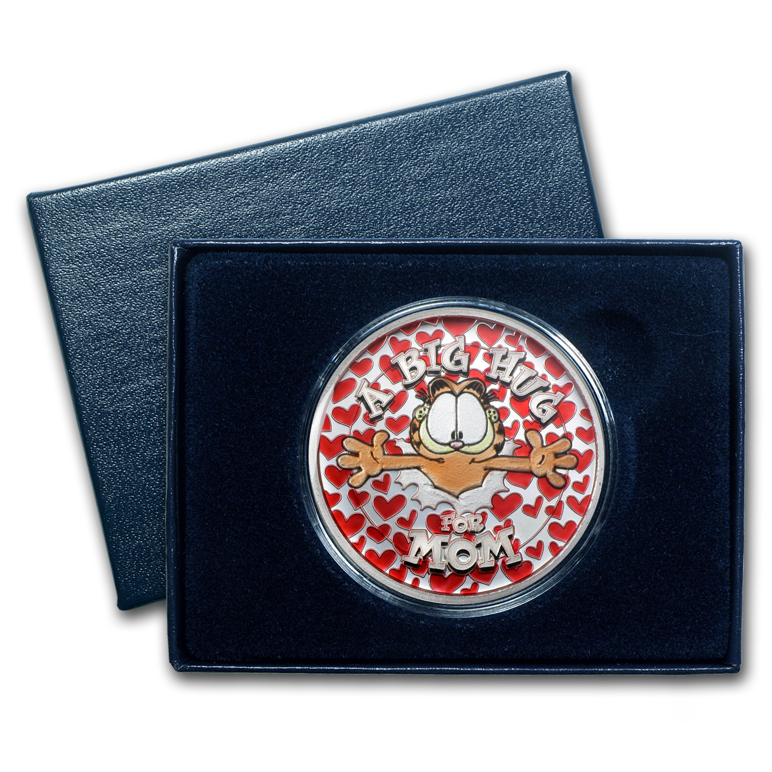 1 oz Silver Round - Hugs for Mom ( Enameled w/Box & Capsule)