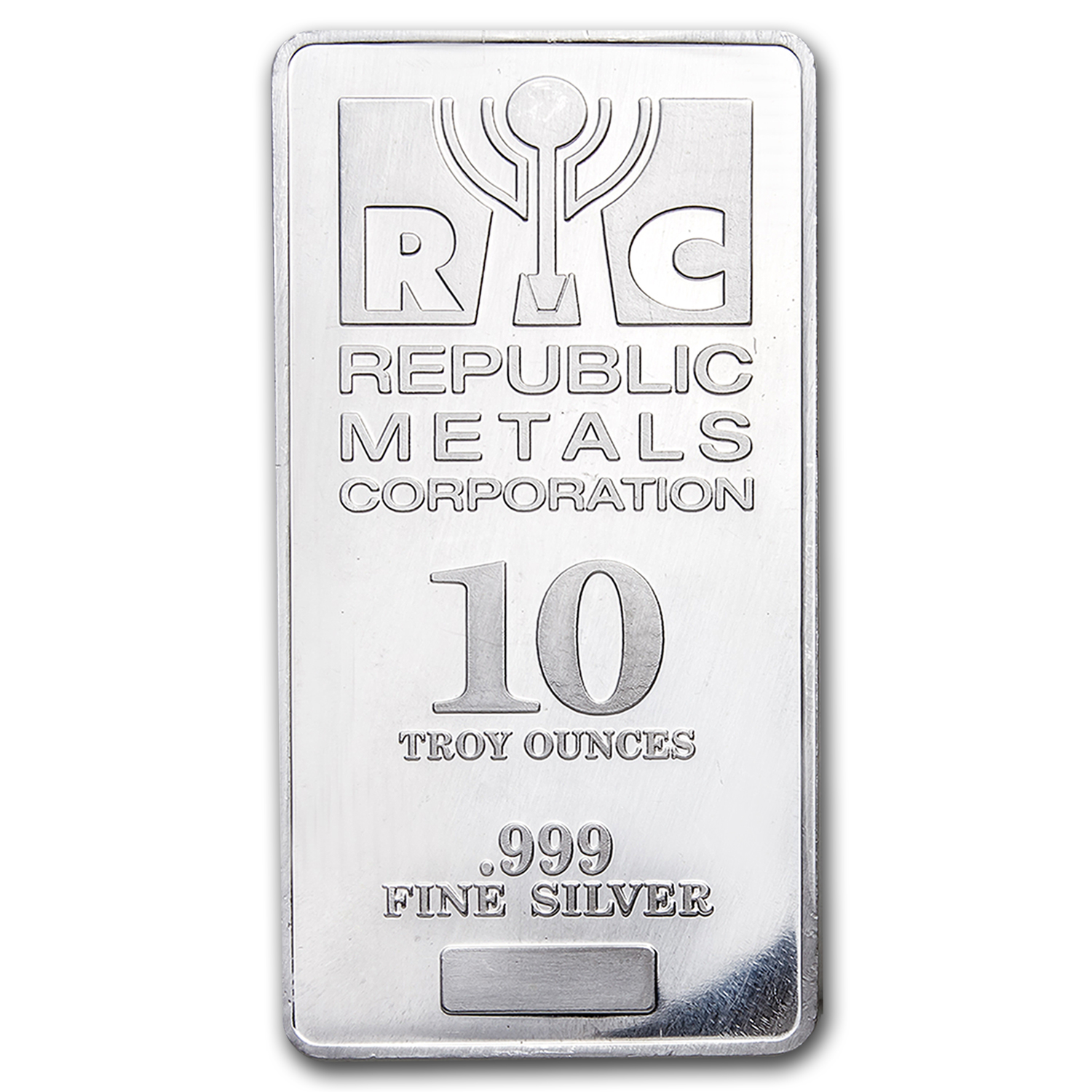 10 oz Silver Bar - Republic Metals Corp. (RMC)