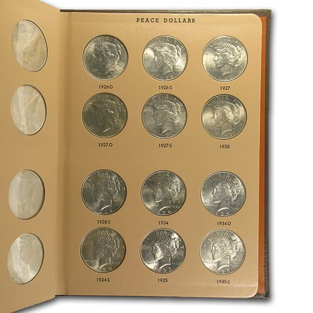 Peace Dollar 24 Coin Complete Set Bu Dansco Album