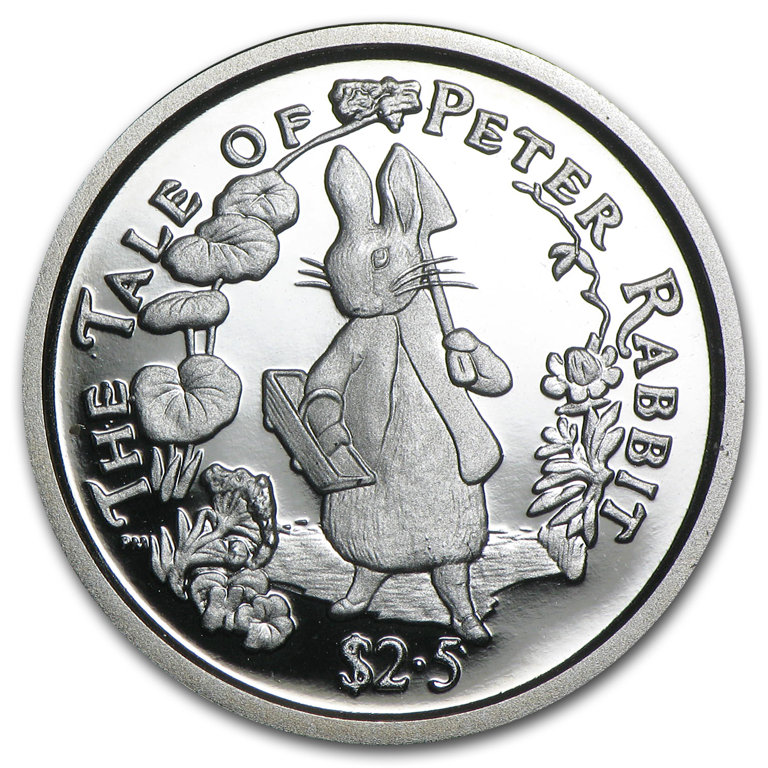 2004 British Virgin Islands 1/4 oz Silver Peter Rabbit Proof