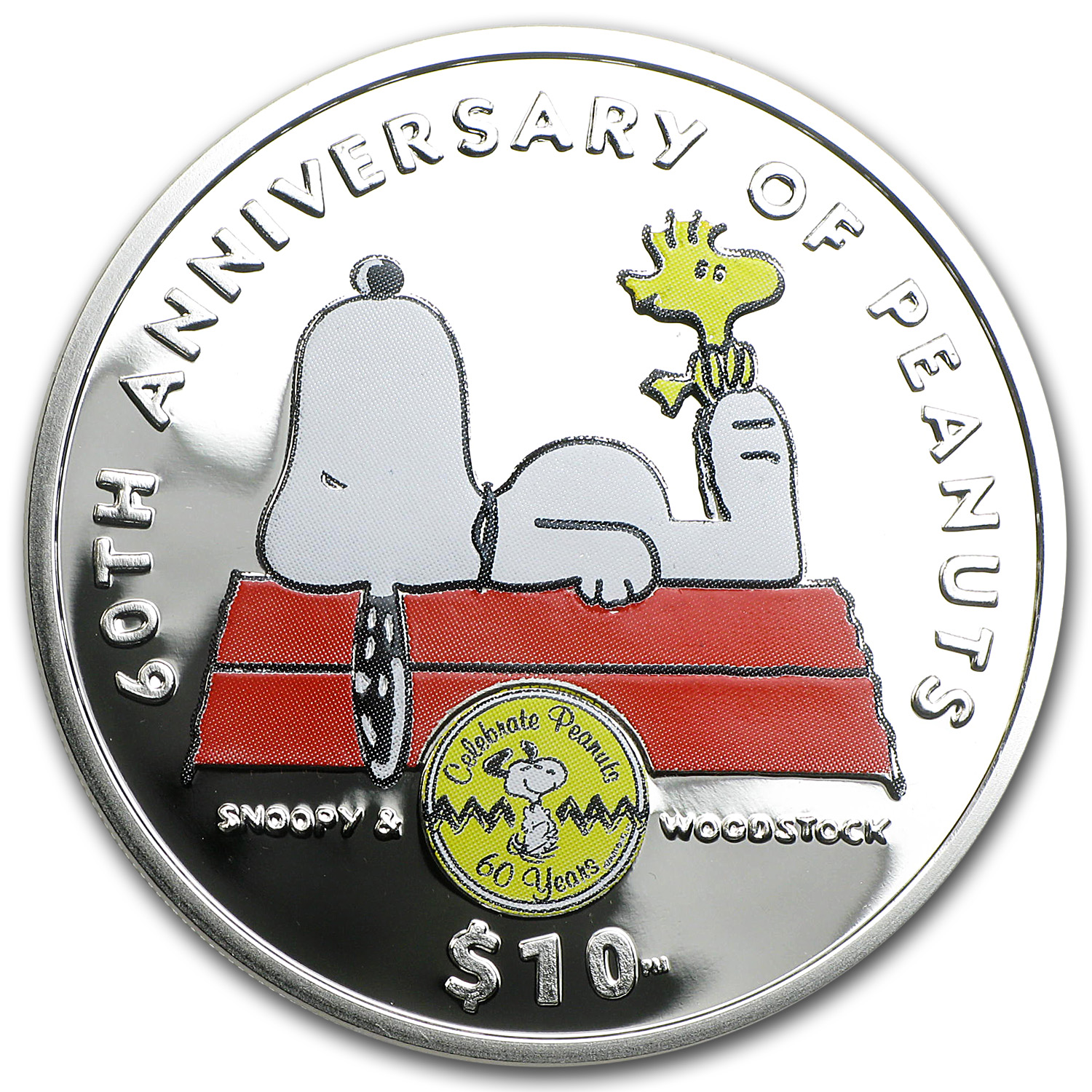 2010 British Virgin Islands Snoopy Proof (Colorized)