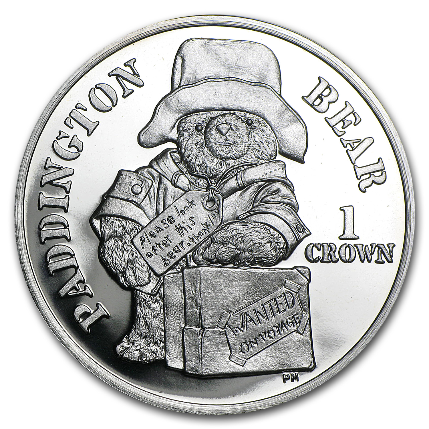 2008 Isle Of Man Silver 1 Crown Paddington Bear Proof