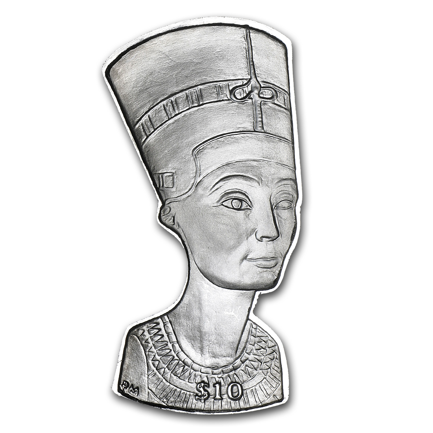 2012 British Virgin Islands Silver Nefertiti's Bust Proof