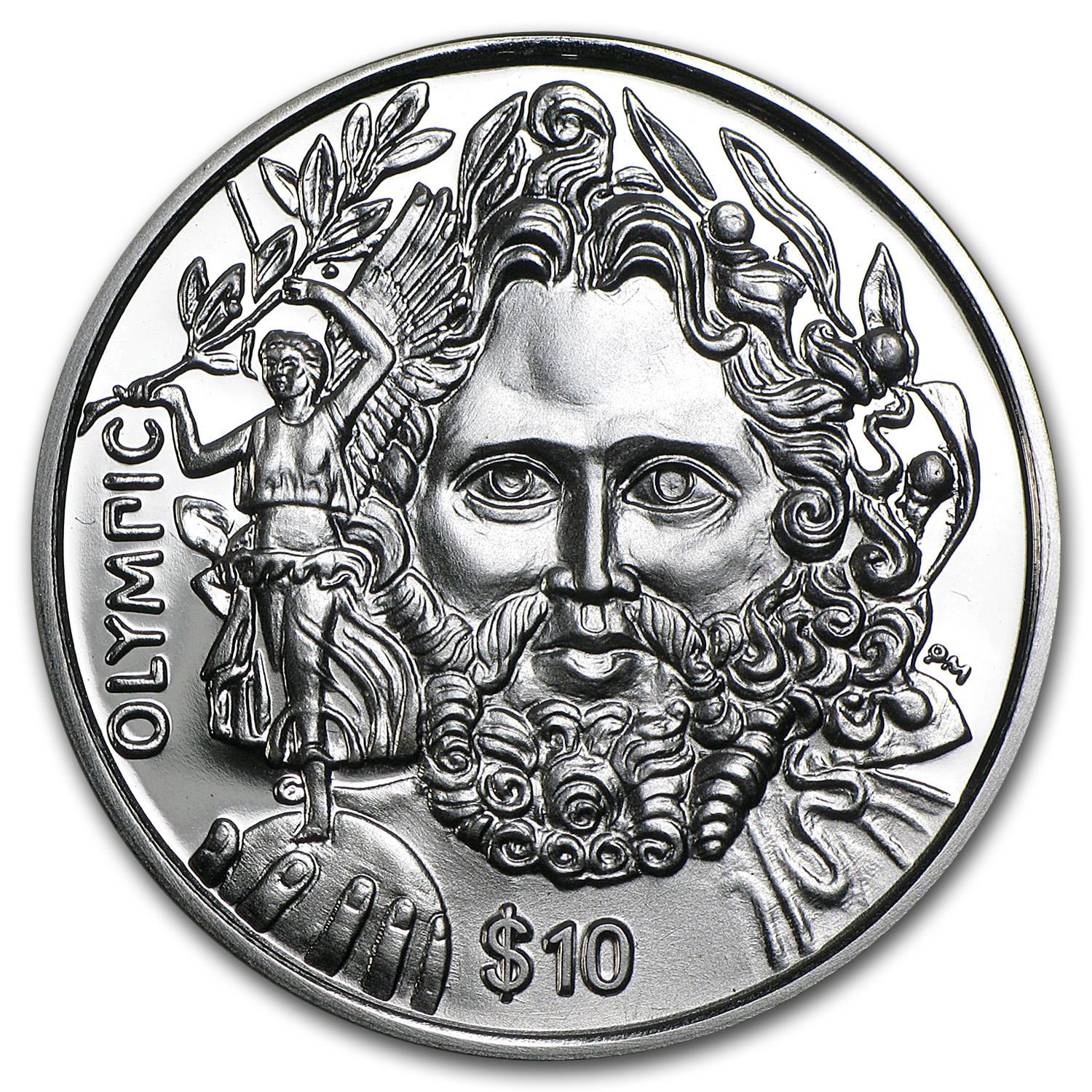 2013 British Virgin Islands 1 oz Silver Zeus Proof