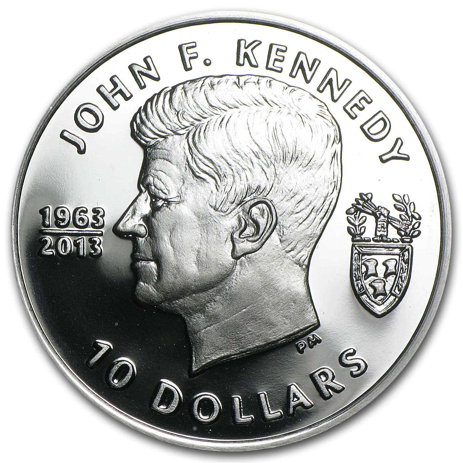 2013 British Virgin Islands $10 Silver John F. Kennedy Proof
