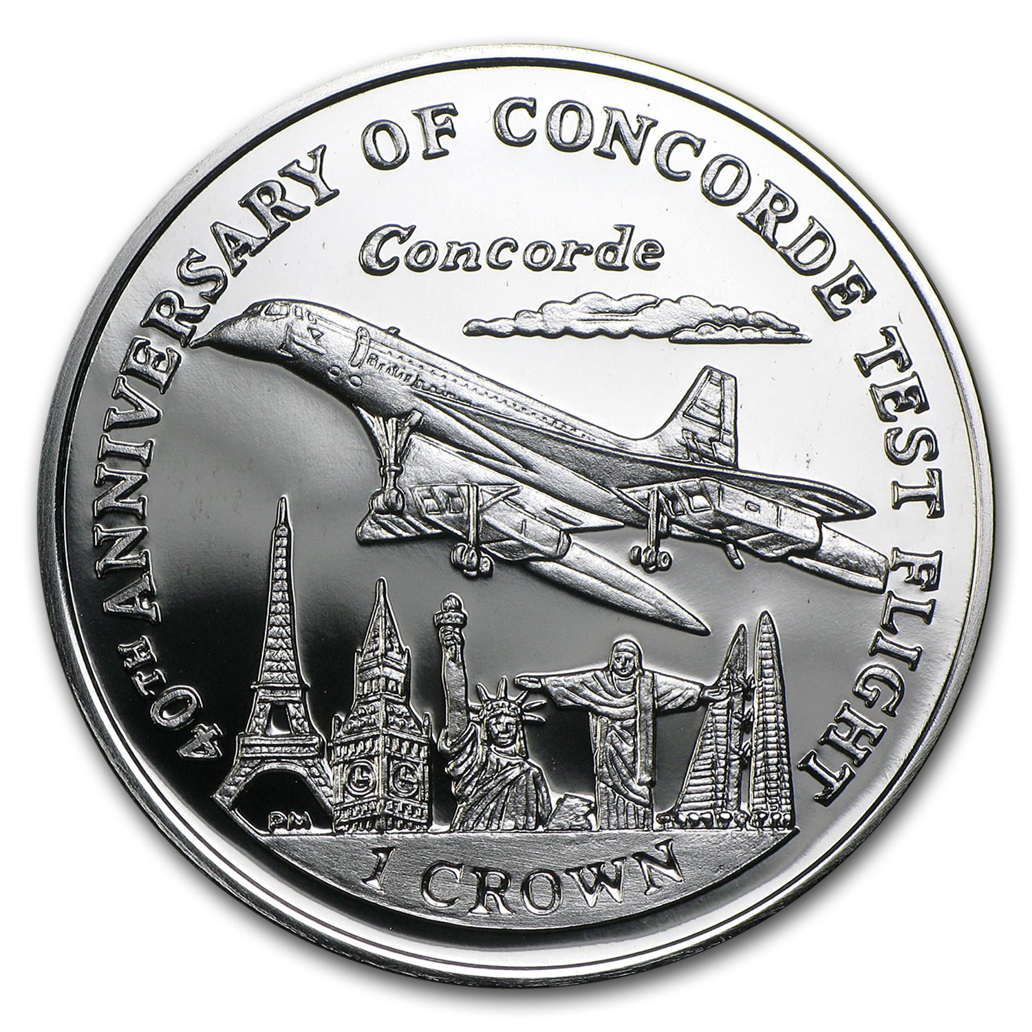 2009 Isle of Man 1 oz Silver Concorde Proof
