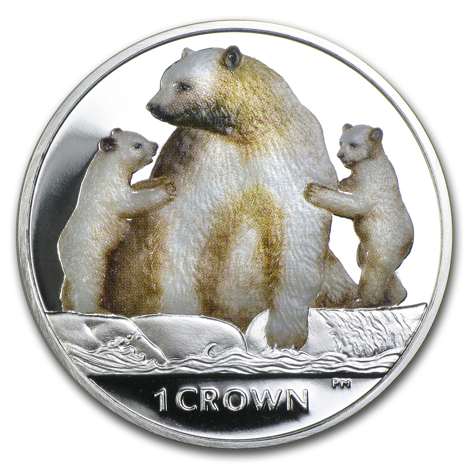2013 Isle of Man 1 oz Kermode Bear Proof (Colorized)
