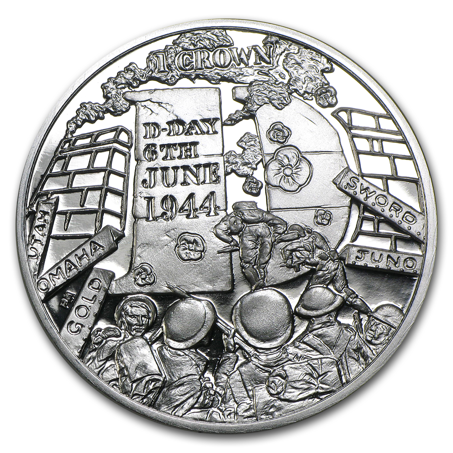 2014 Isle of Man 1 Crown 70th Anniversary D-Day Proof