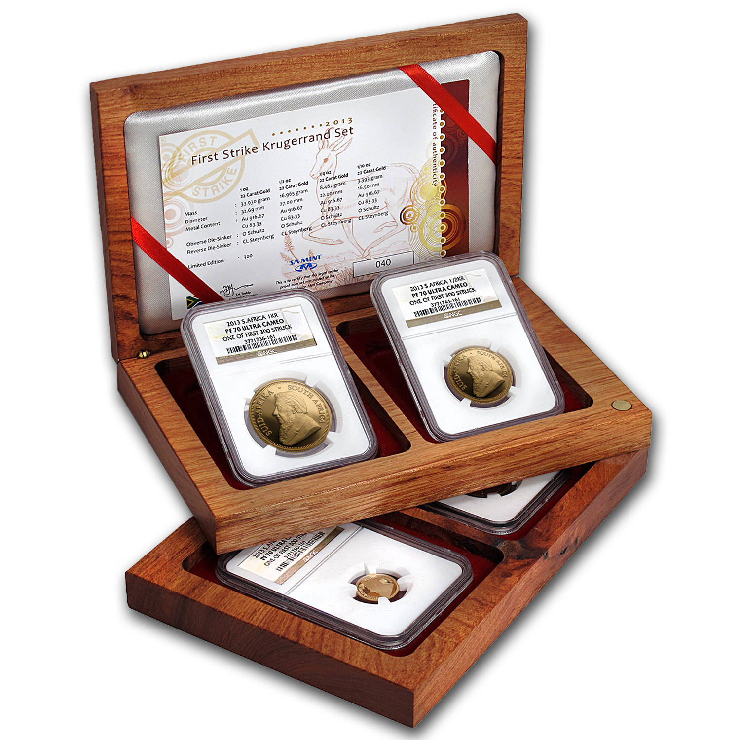 2013 South Africa 4-Coin Gold Krugerrand Proof Set PF-70 NGC (FS)