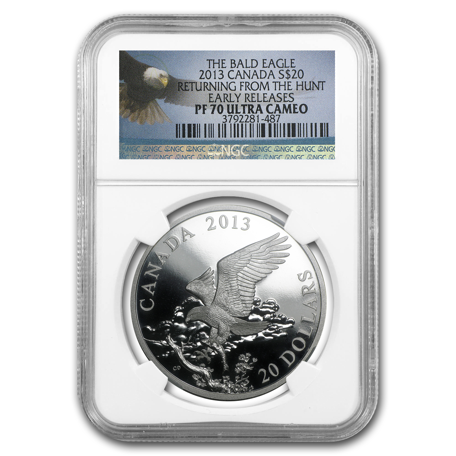 2013 Canada 1 oz Silver $20 Eagle Returning from Hunt PF-70 NGC