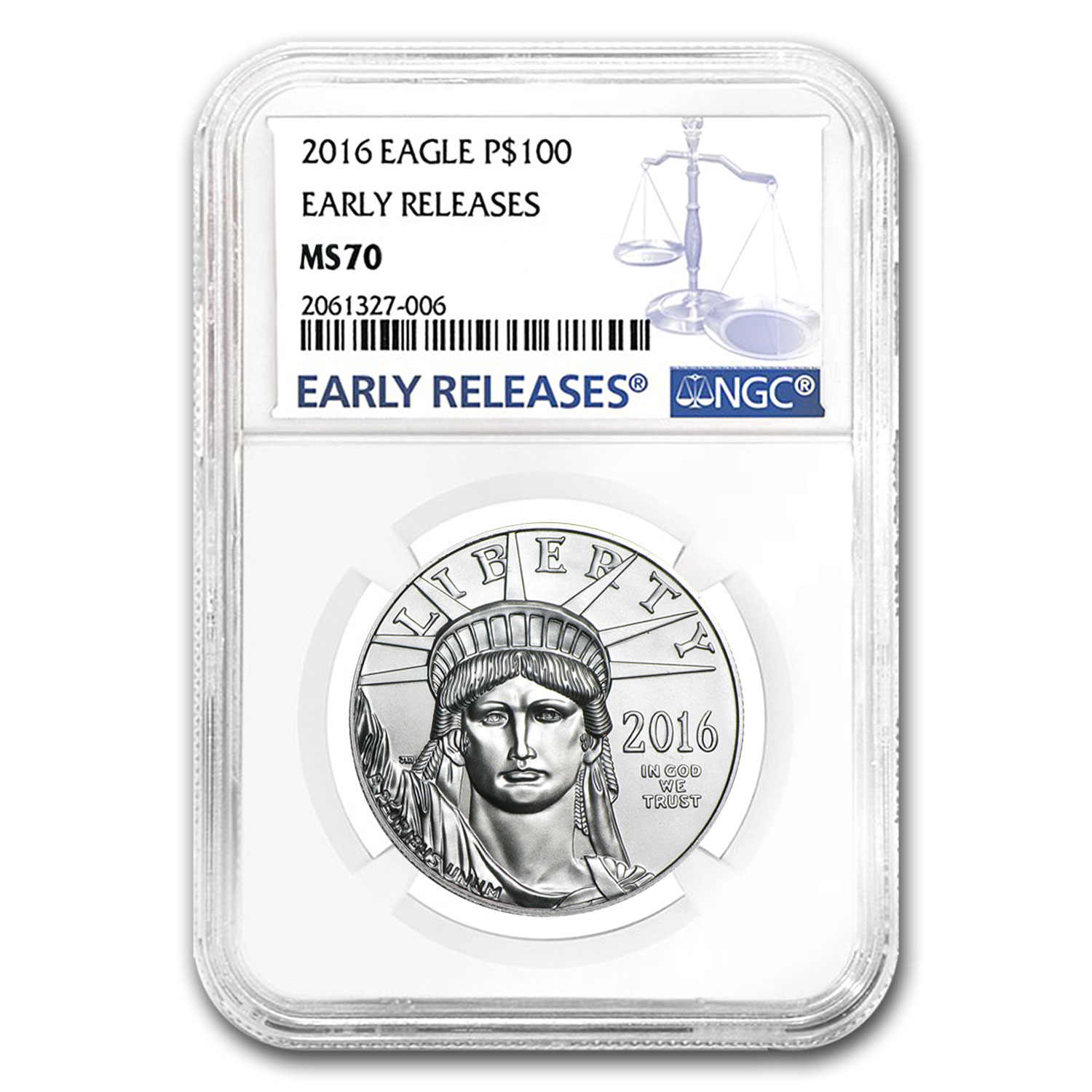 2016 1 oz Platinum American Eagle MS-70 NGC (Early Releases)
