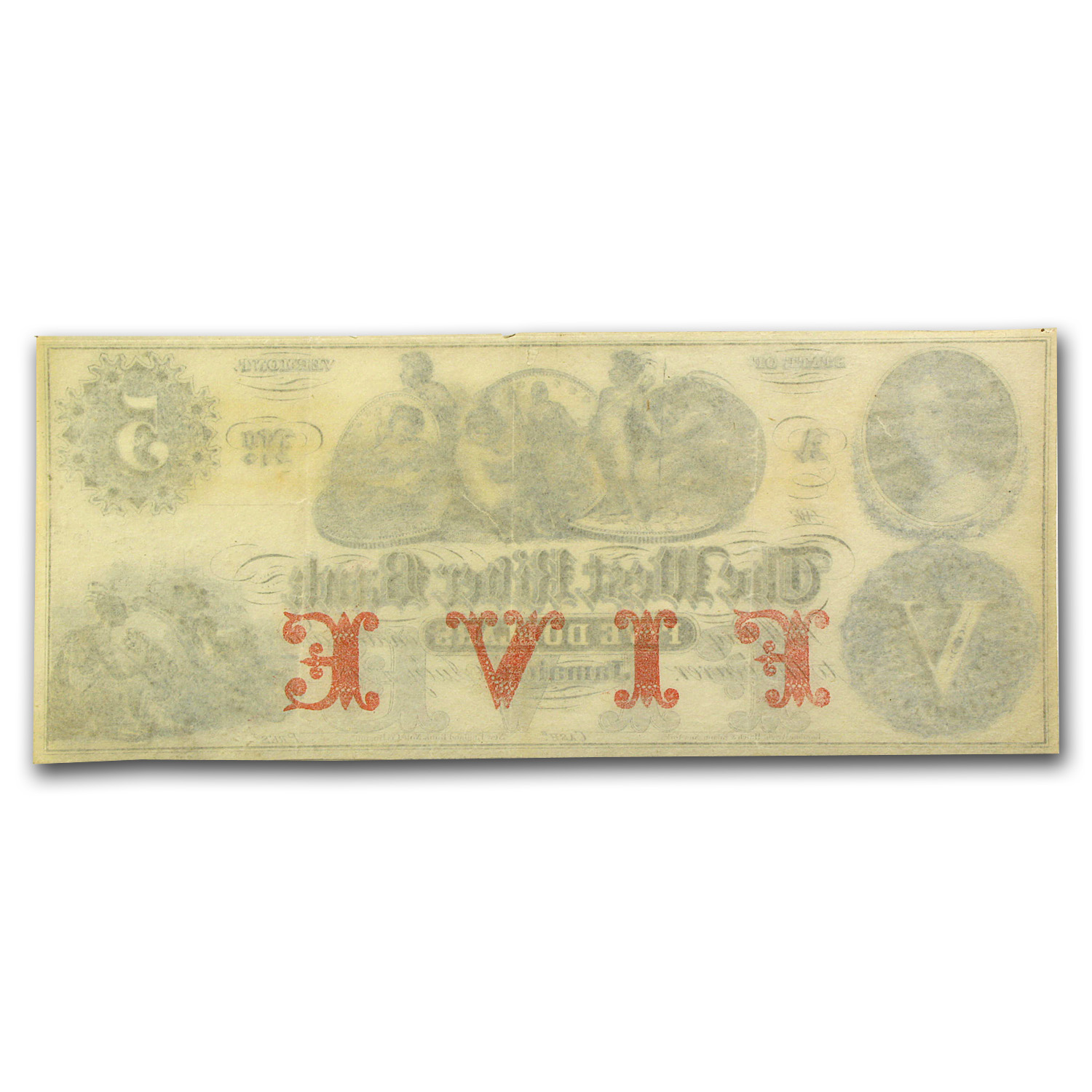 18__ The West River Bank, Jamaica, VT $5.00 Note VT-115 XF