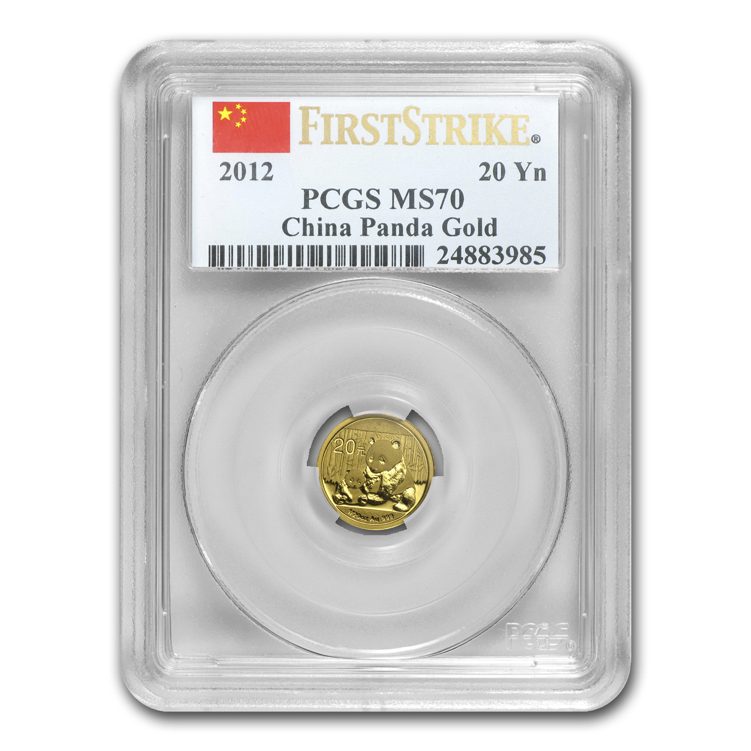 2012 China 1/20 oz Gold Panda MS-70 PCGS (First Strike)