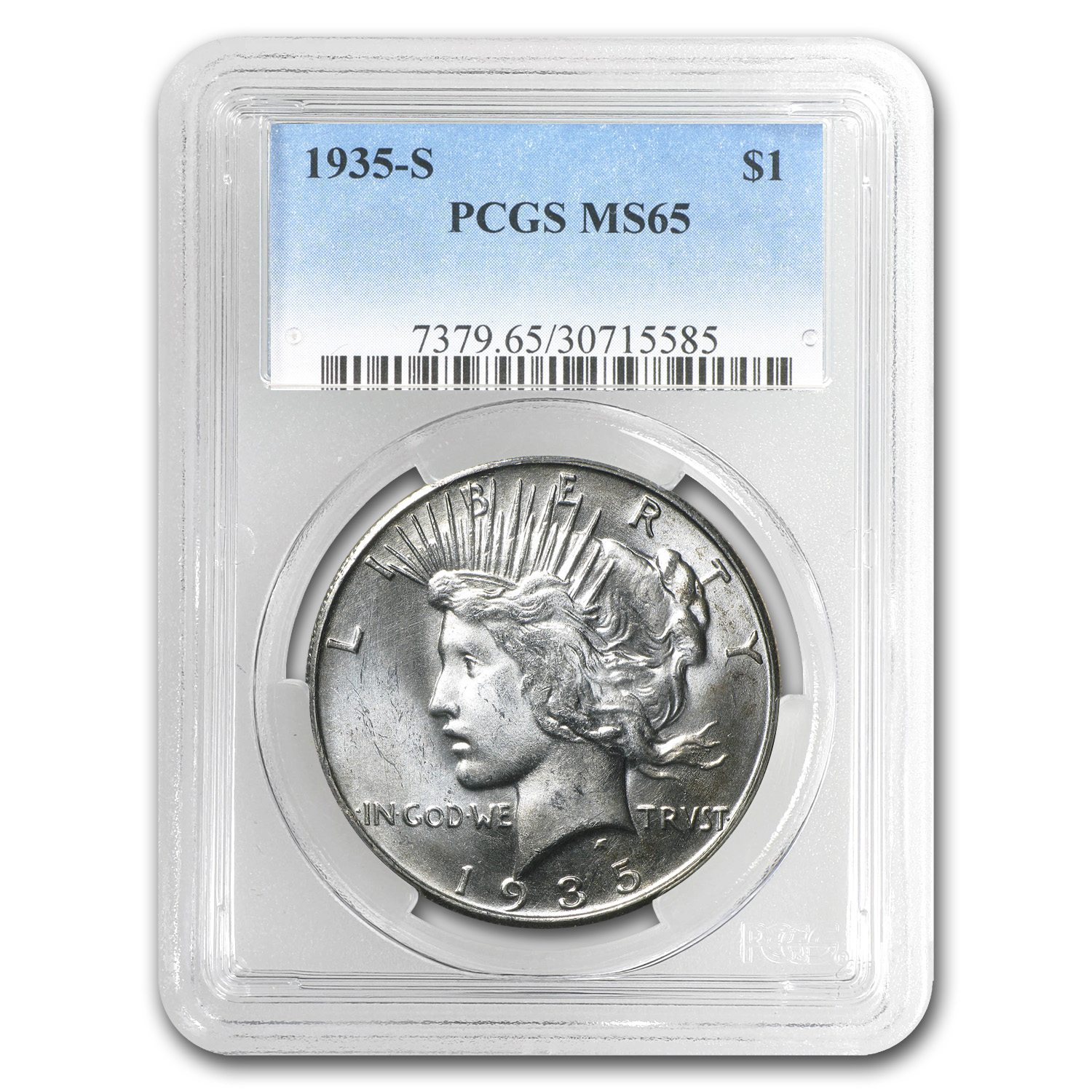 1935-S Peace Silver Dollar MS-65 PCGS