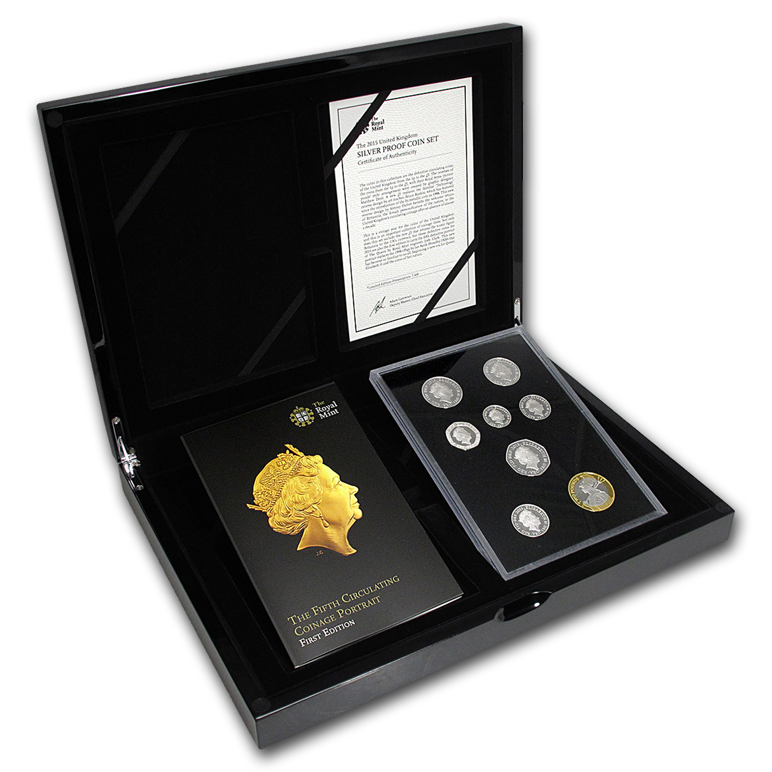 2015 GB 8-Coin Silver 1st Edition Circulating Pf Set (5th Effigy)