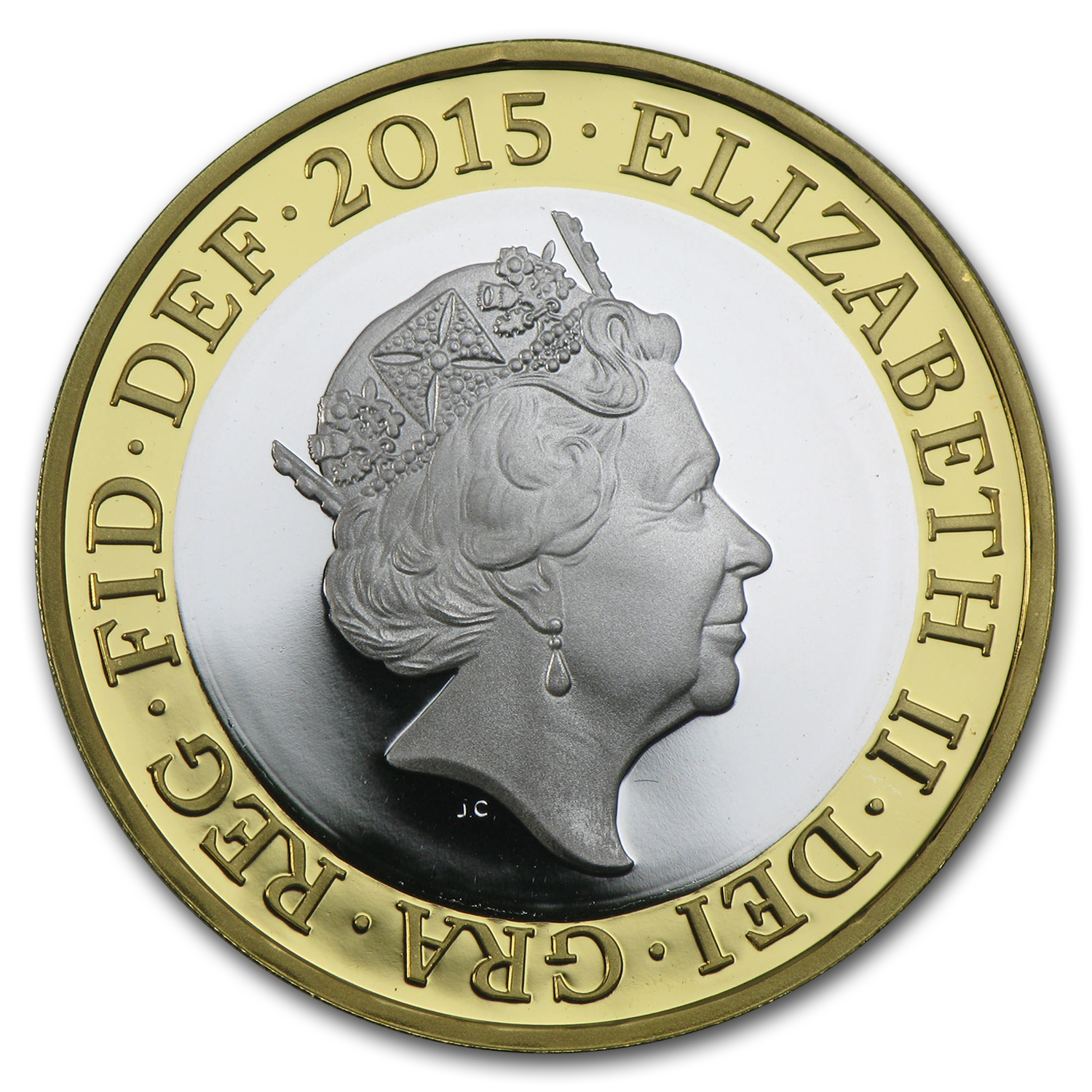 2015 Great Britain £2 Silver Proof First Edition (Fifth Effigy)