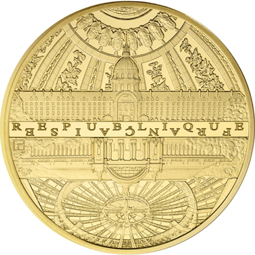 2015 5 oz Proof Gold €500 The Invalides & Grand Palais (8-18)