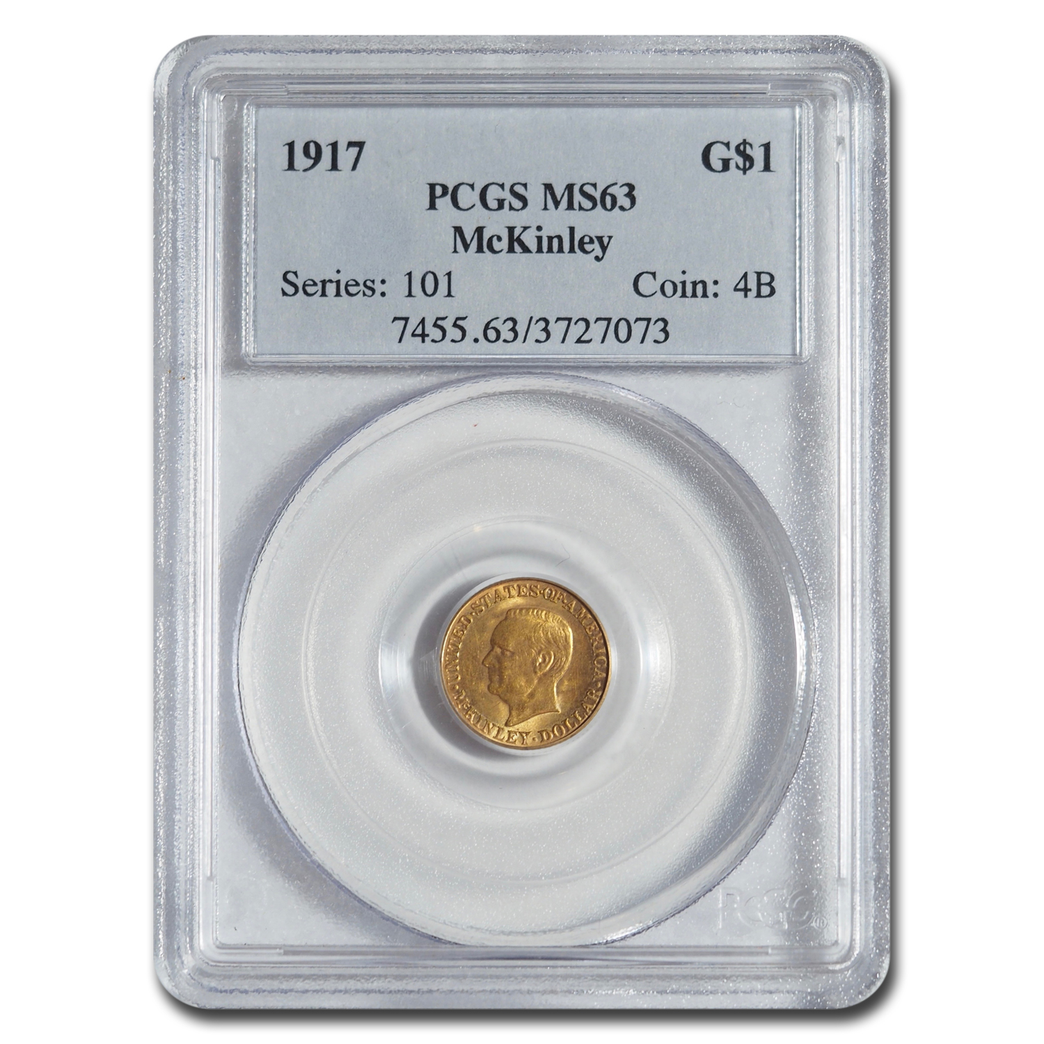 1917 Gold $1.00 McKinley Memorial MS-63 PCGS