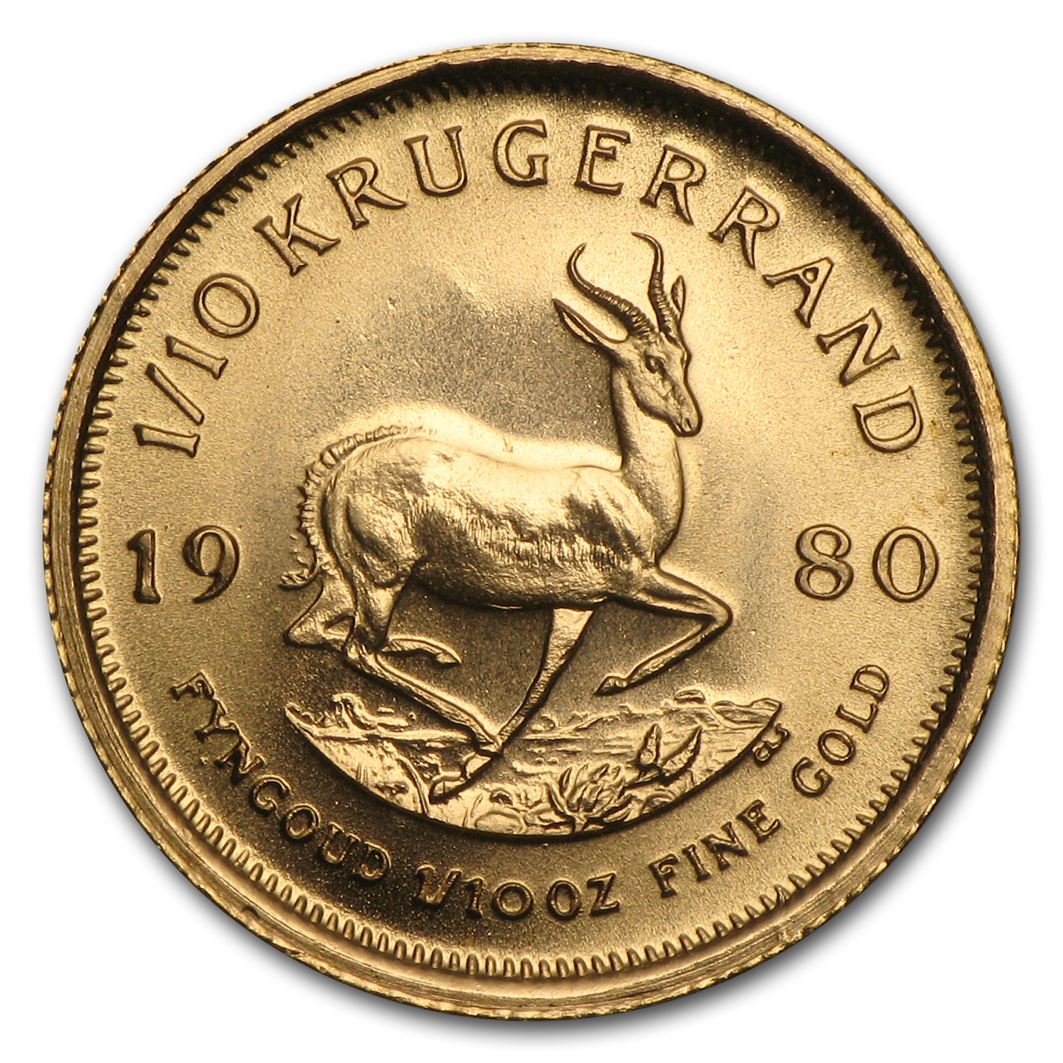 1980 South Africa 1/10 oz Gold Krugerrand
