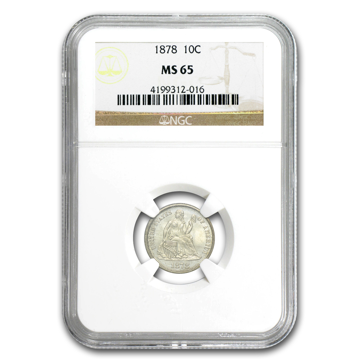 1878 Liberty Seated Dime MS-65 NGC